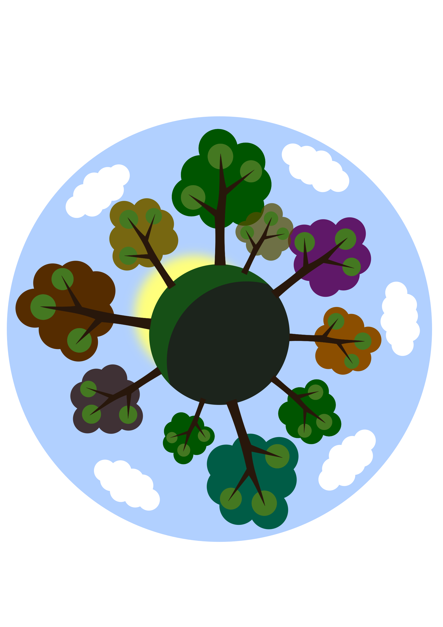 Tiny tree planet by Susa