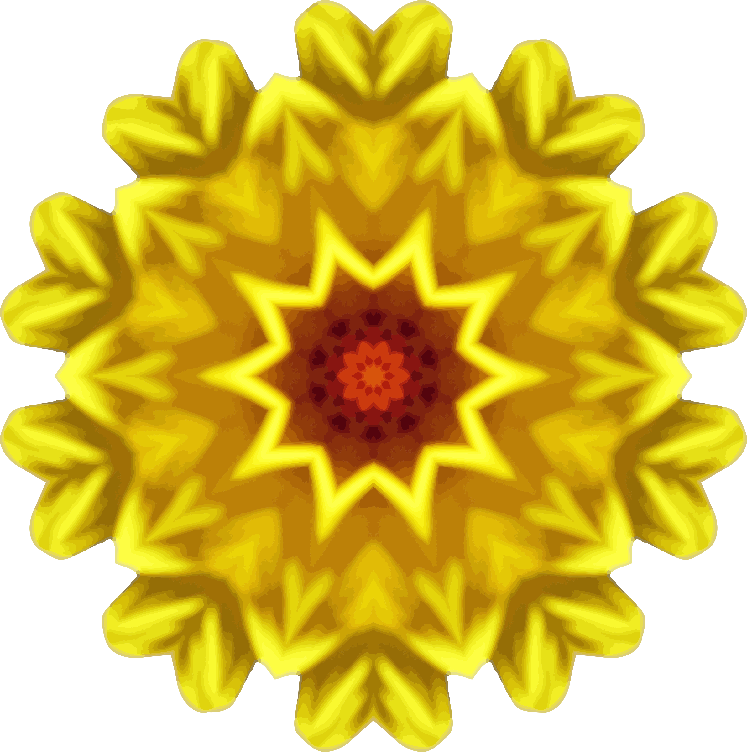Sunflower kaleidoscope 16 by Firkin