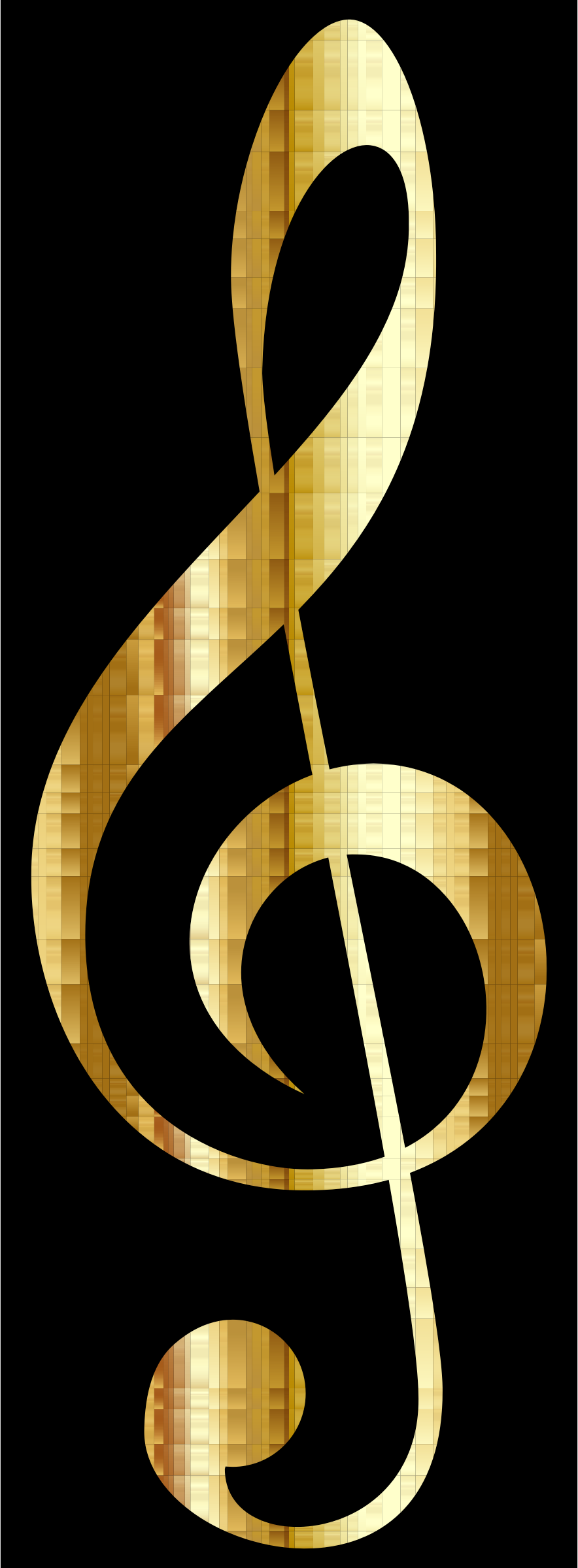 Gold Checkered Clef by GDJ