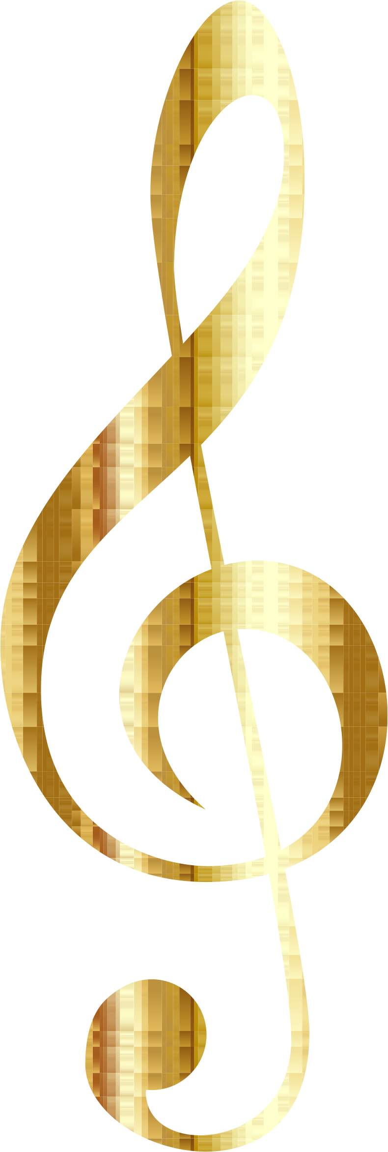 Gold Checkered Clef No Background by GDJ