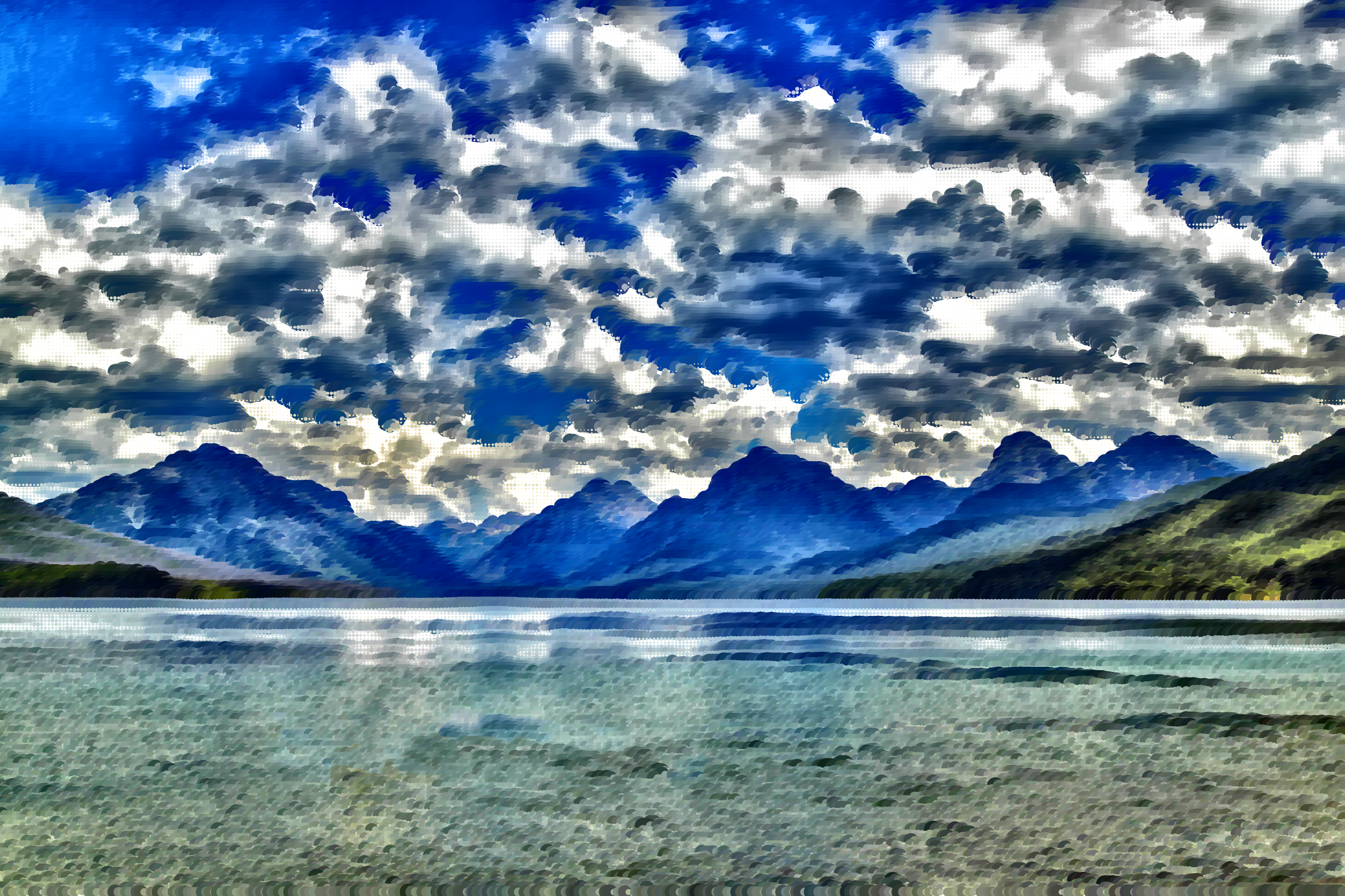Surreal Lake McDonald Montana by GDJ