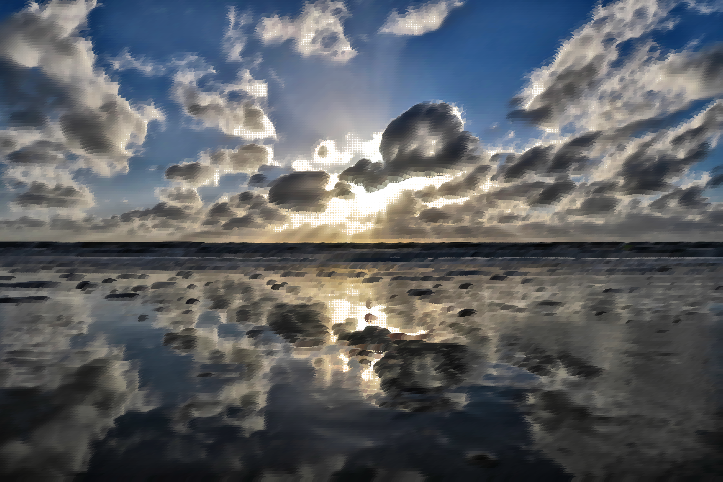 Surreal Cloudy Beach by GDJ