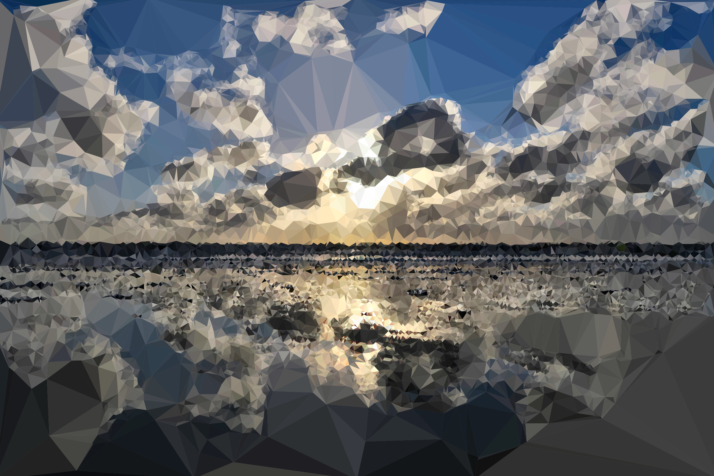 Low Poly Cloudy Beach by GDJ