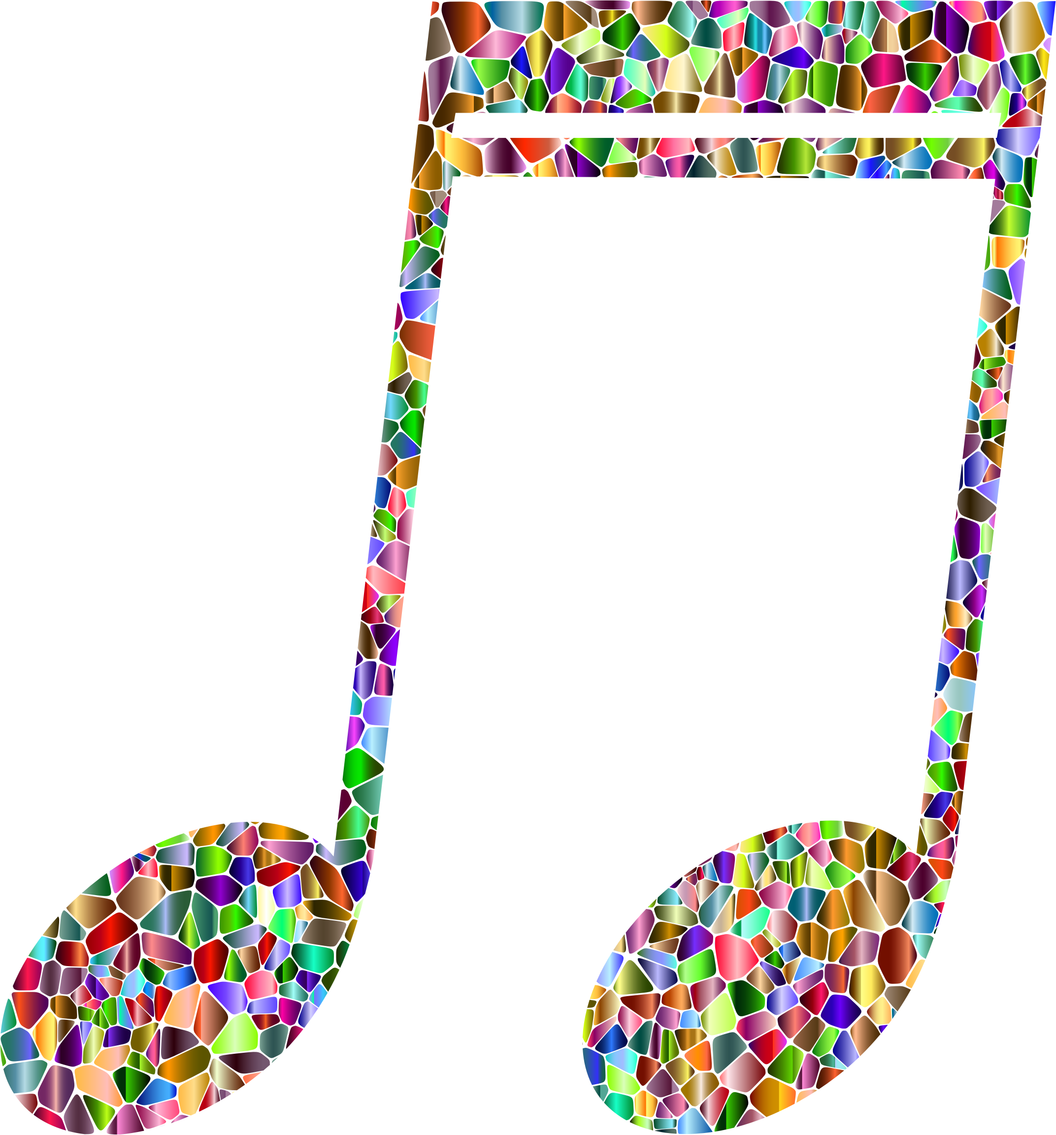 Vivid Chromatic Tiled Musical Note 2 by GDJ