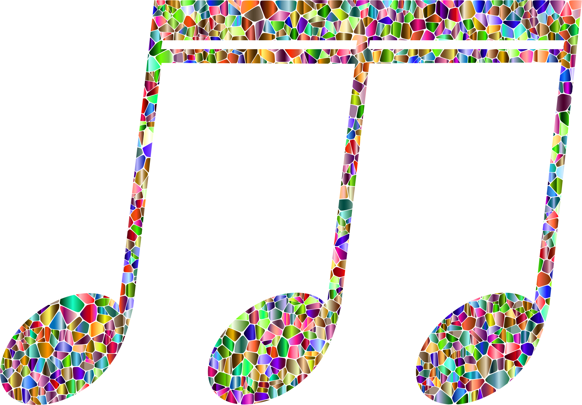 Vivid Chromatic Tiled Musical Note 8 by GDJ