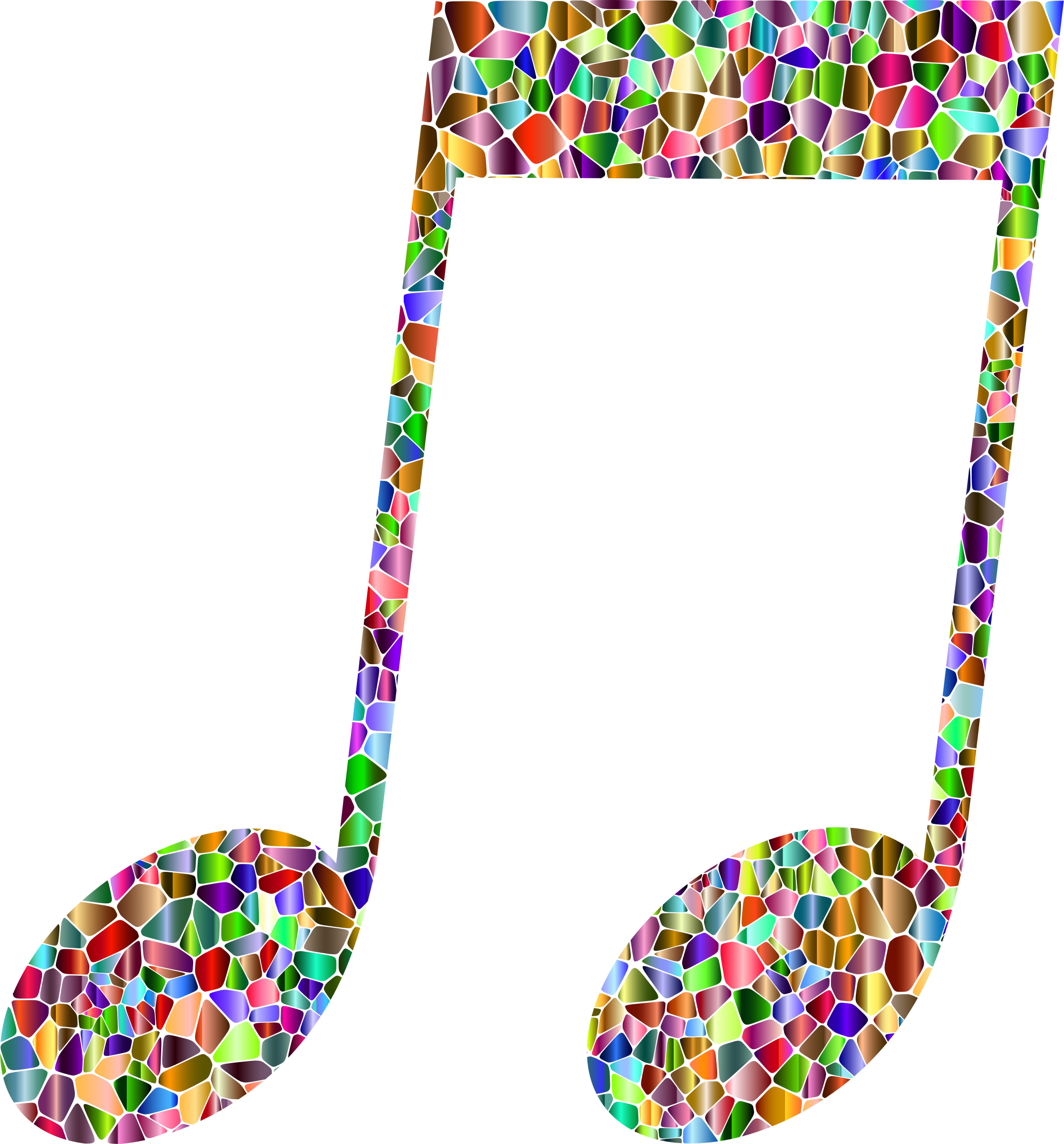 Vivid Chromatic Tiled Musical Note 14 by GDJ