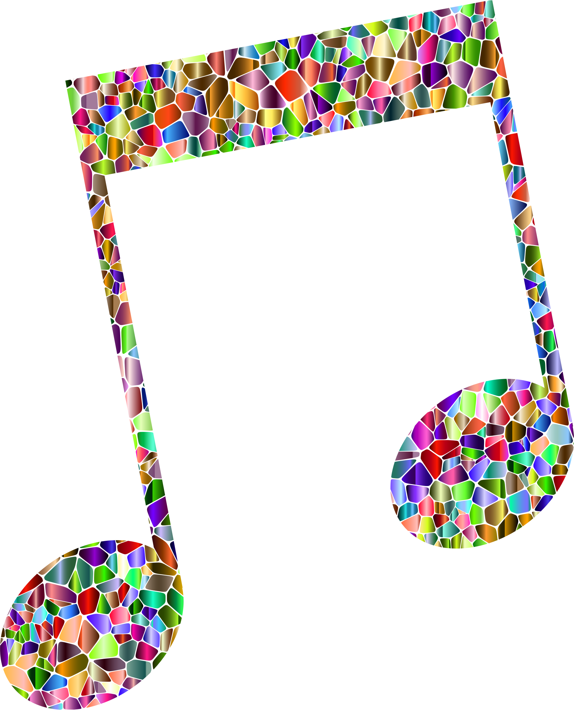 Vivid Chromatic Tiled Musical Note 15 by GDJ