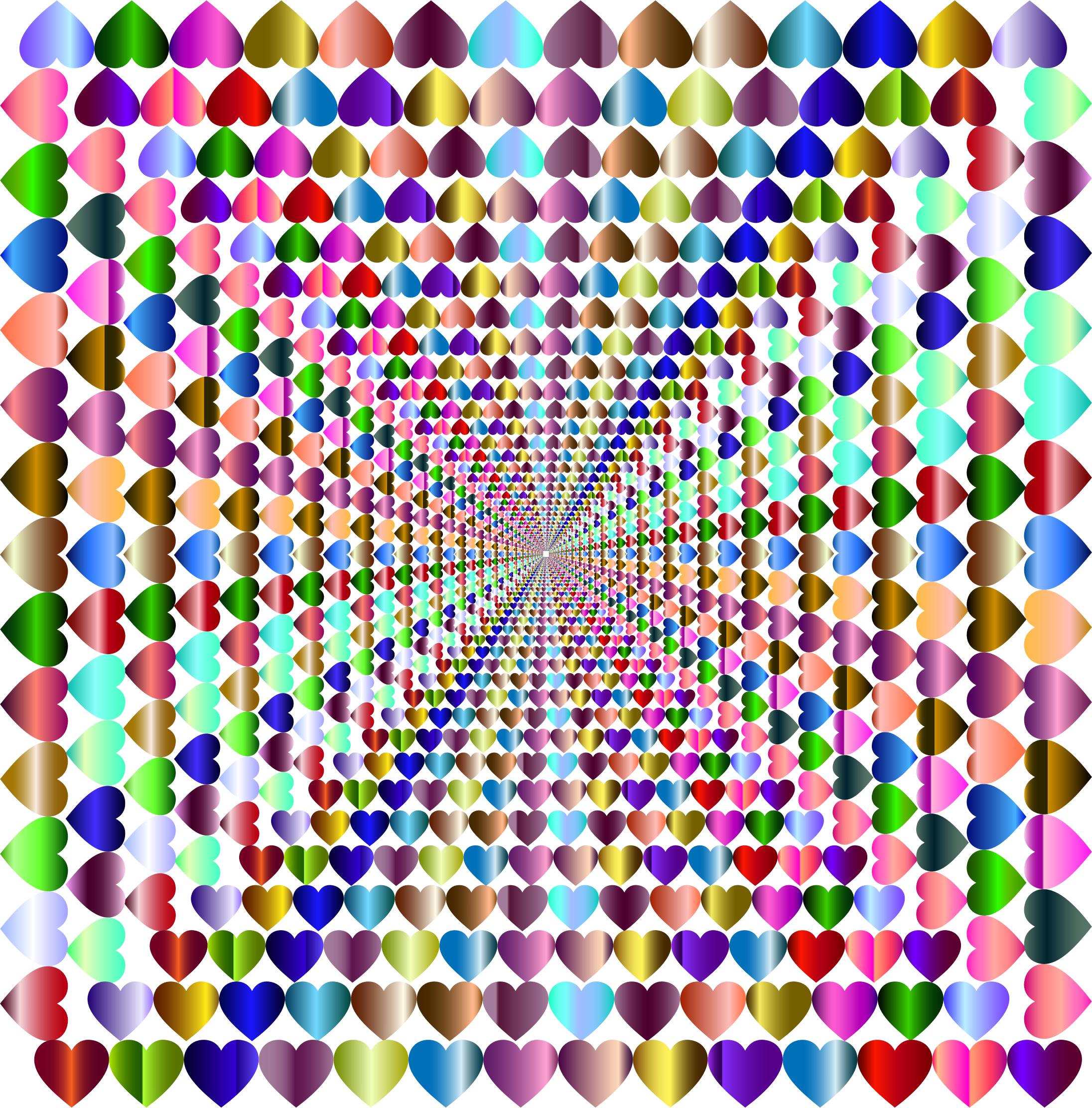 Prismatic Hearts Frame Vortex by GDJ