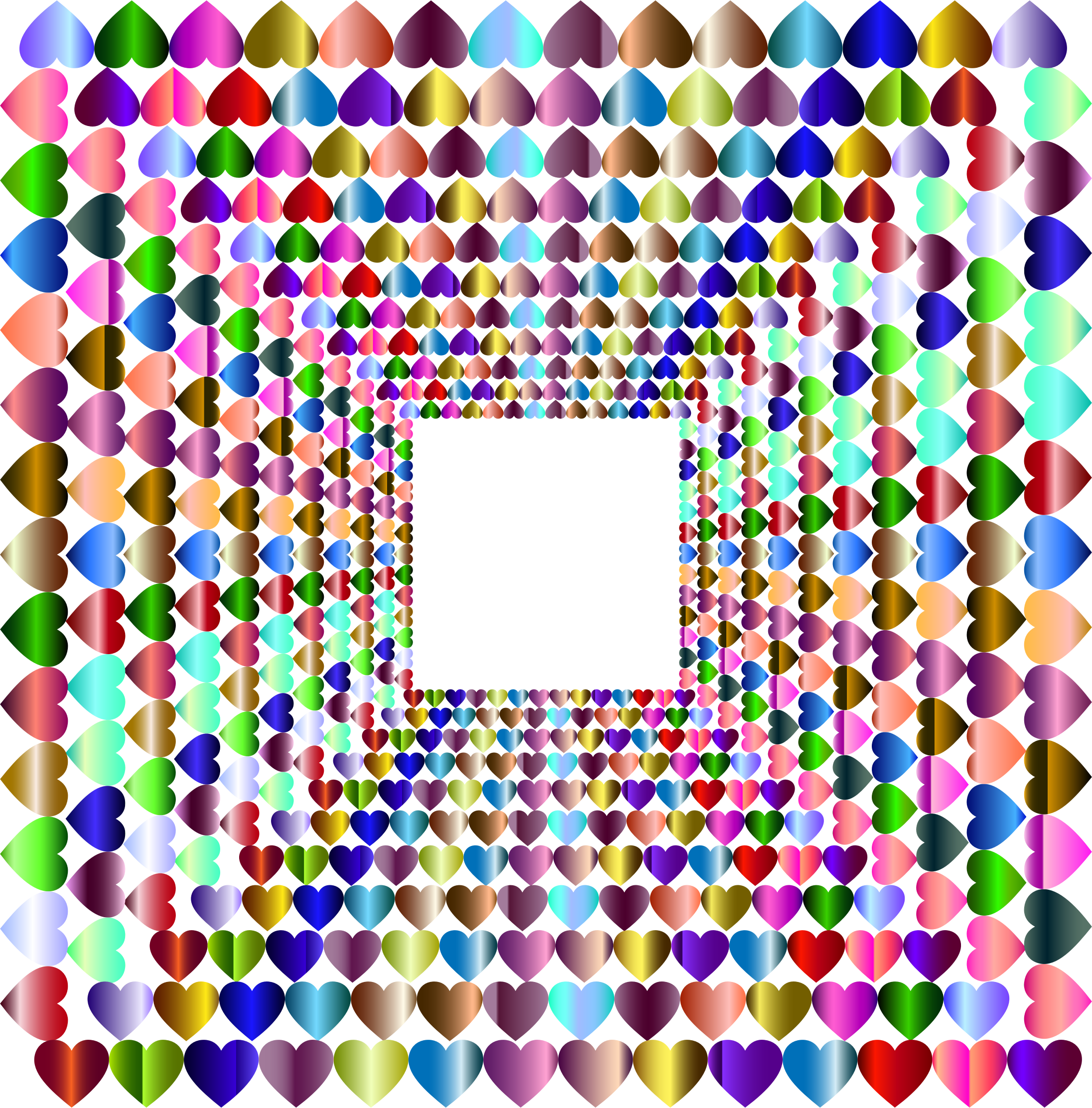 Prismatic Hearts Frame Vortex Variation 2 by GDJ