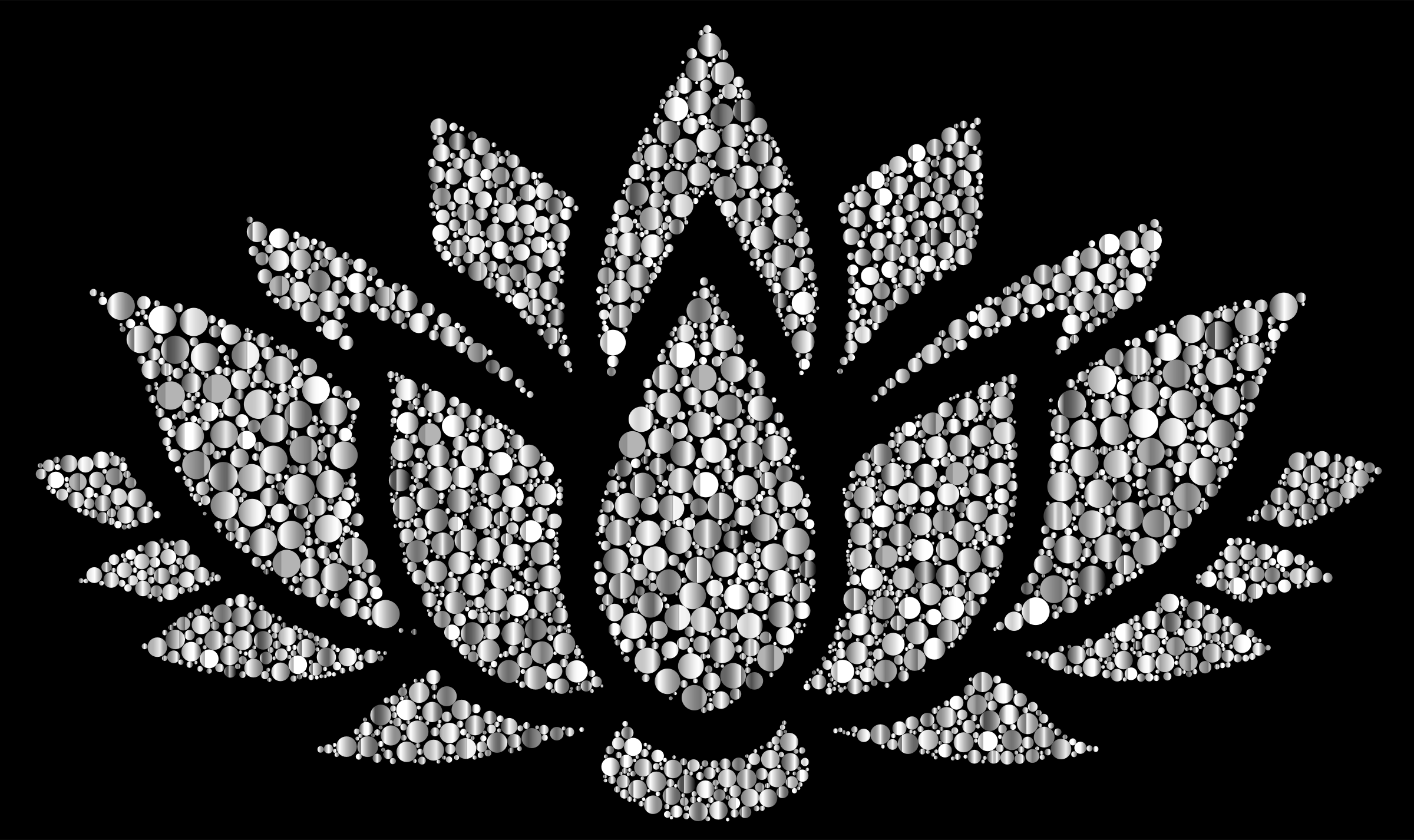 Prismatic Lotus Flower Silhouette 6 Circles 9 by GDJ