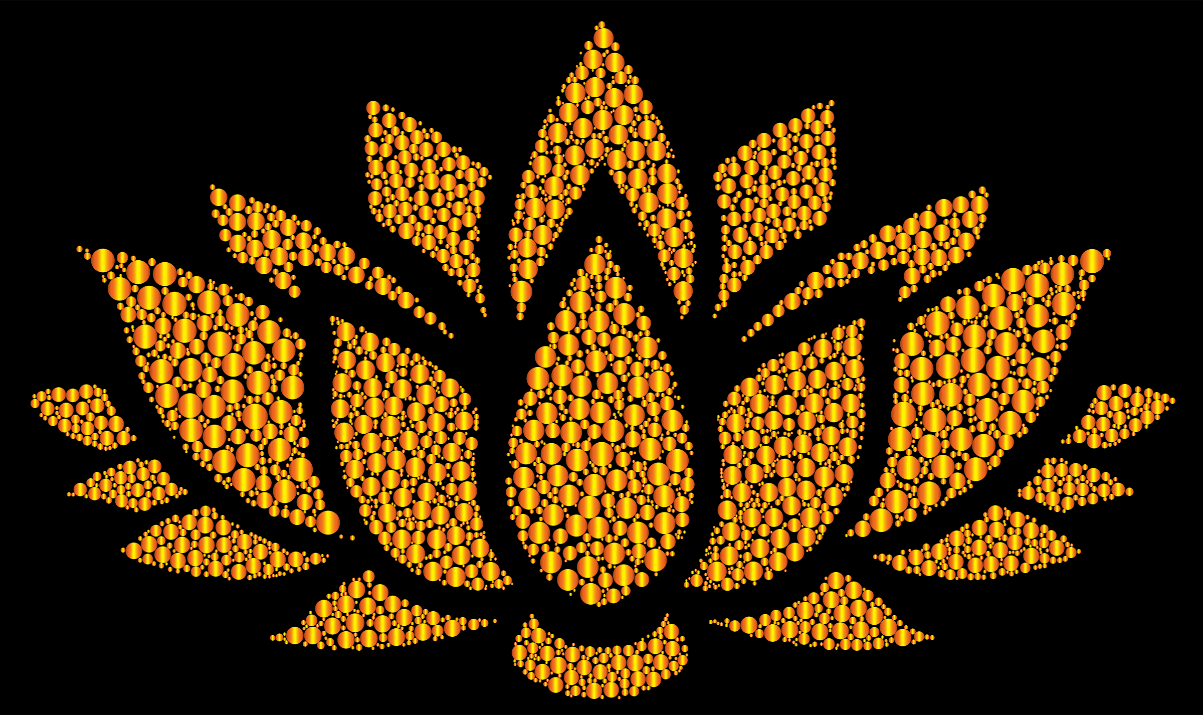 Prismatic Lotus Flower Silhouette 6 Circles 11 by GDJ