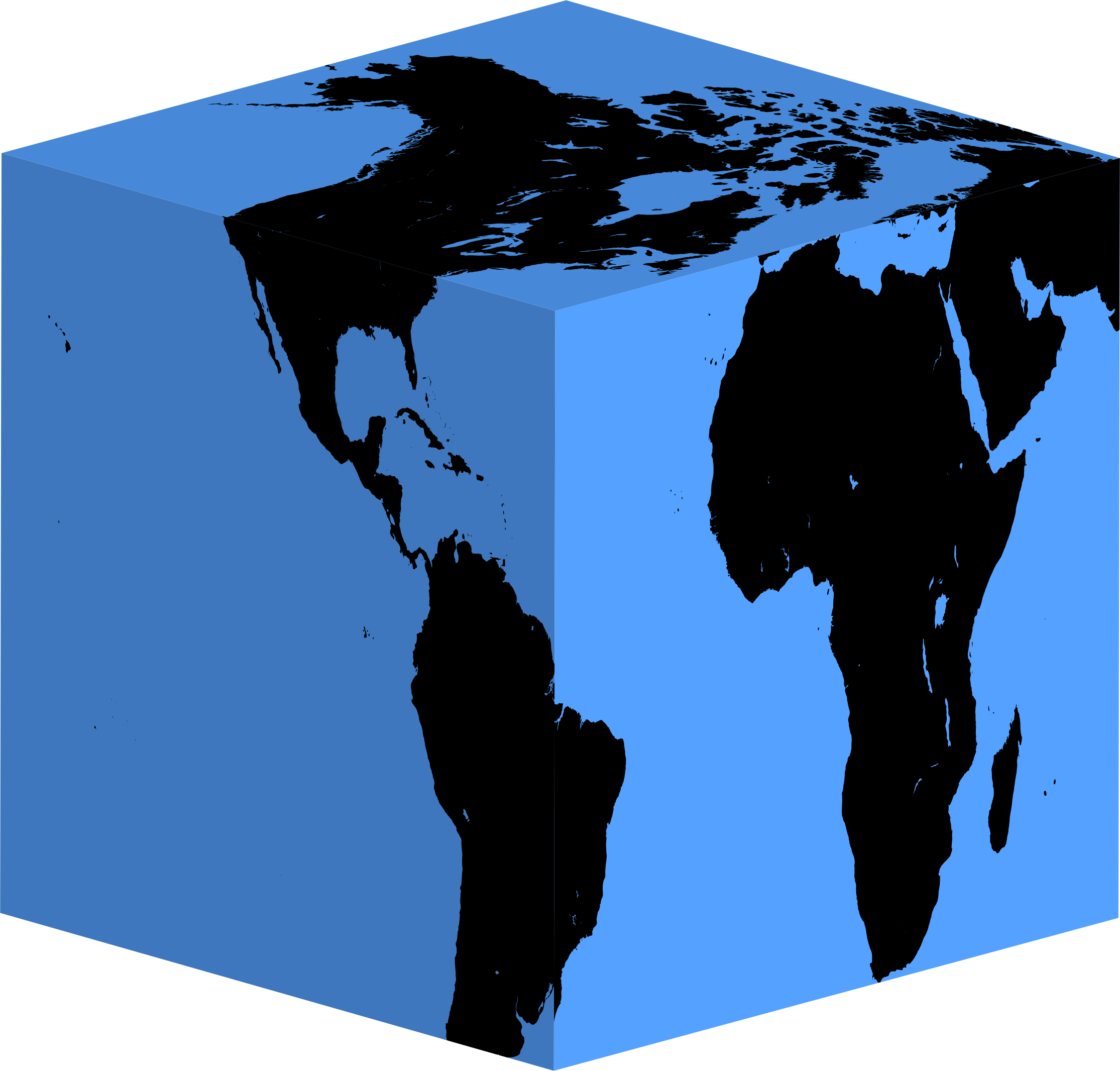 Cube Earth Silhouette by GDJ
