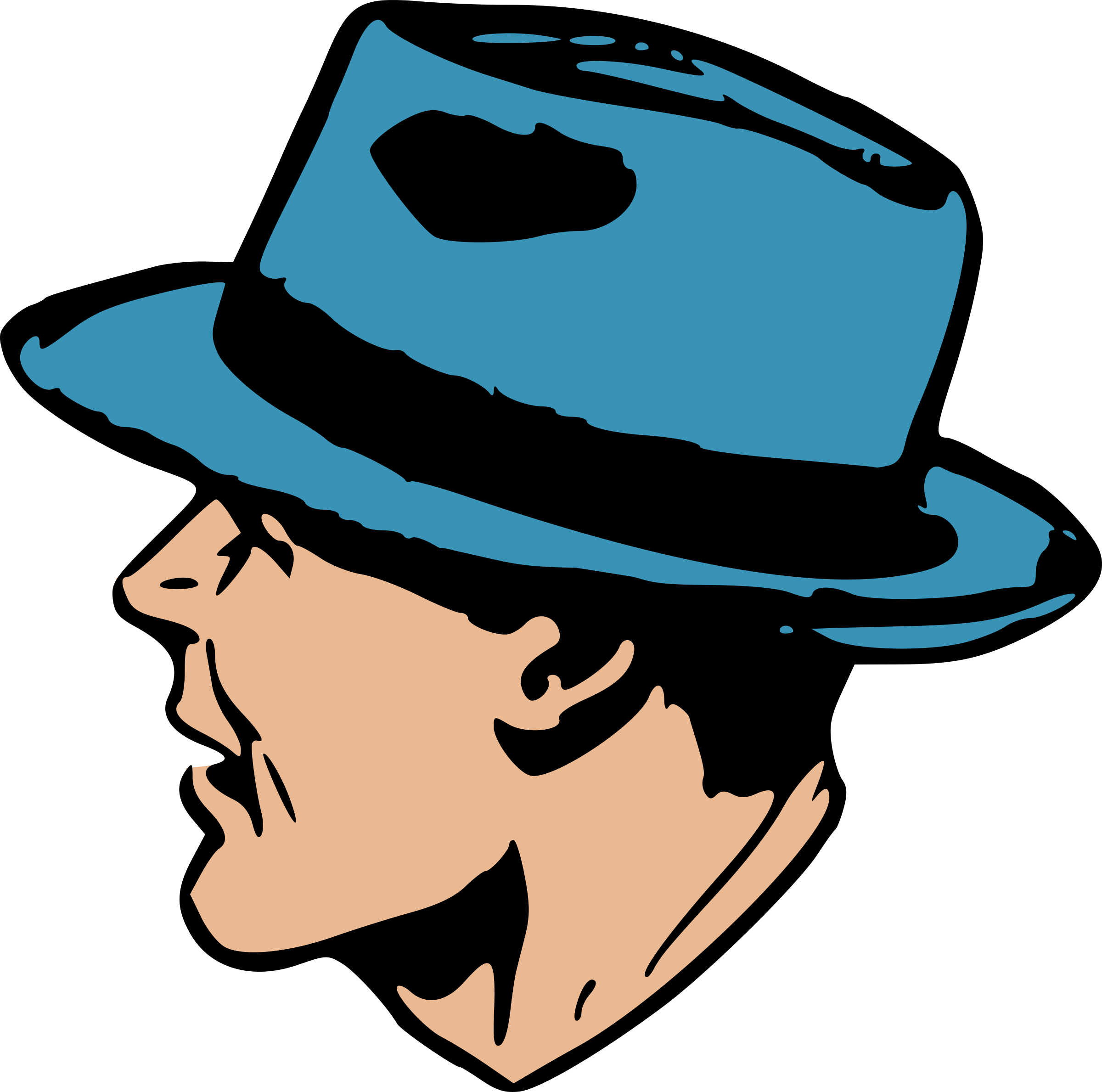 Man in blue hat by liftarn