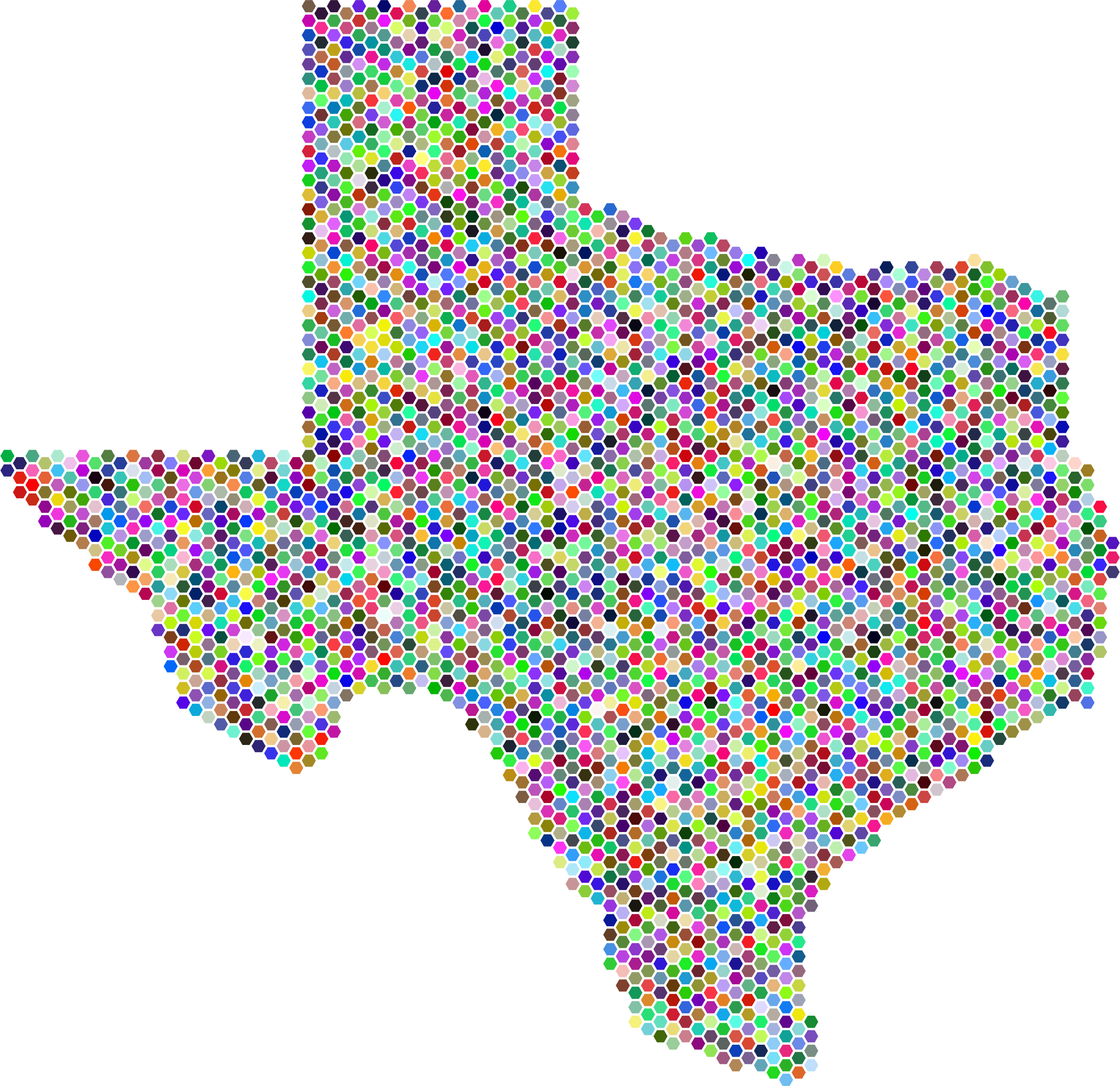 Prismatic Texas Hexagonal Mosaic by GDJ