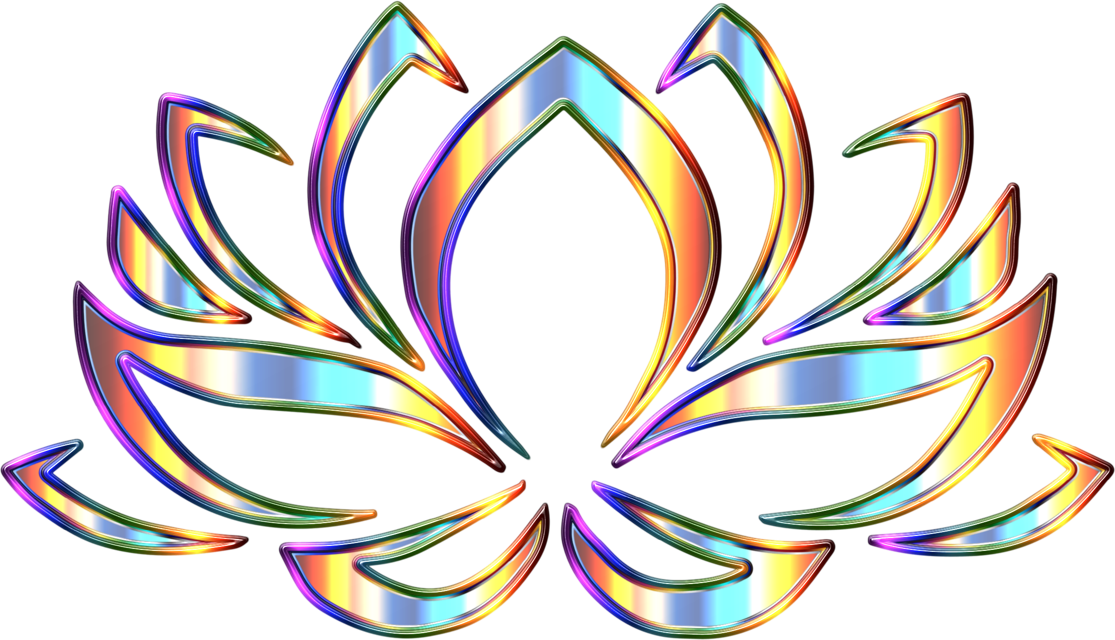 Psychedelic Lotus Flower Enhanced by GDJ