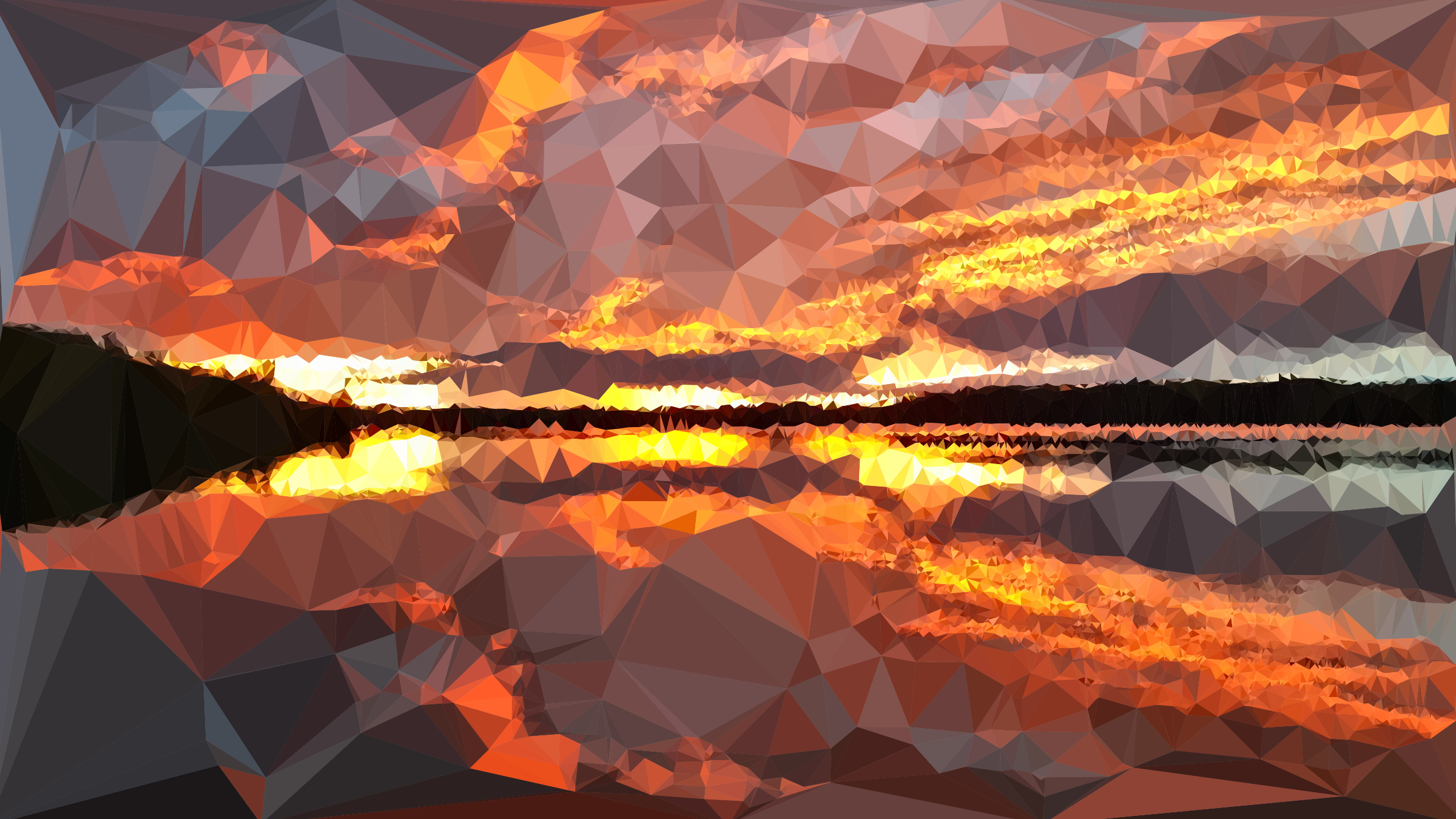 Low Poly Nuclear Sunset by GDJ