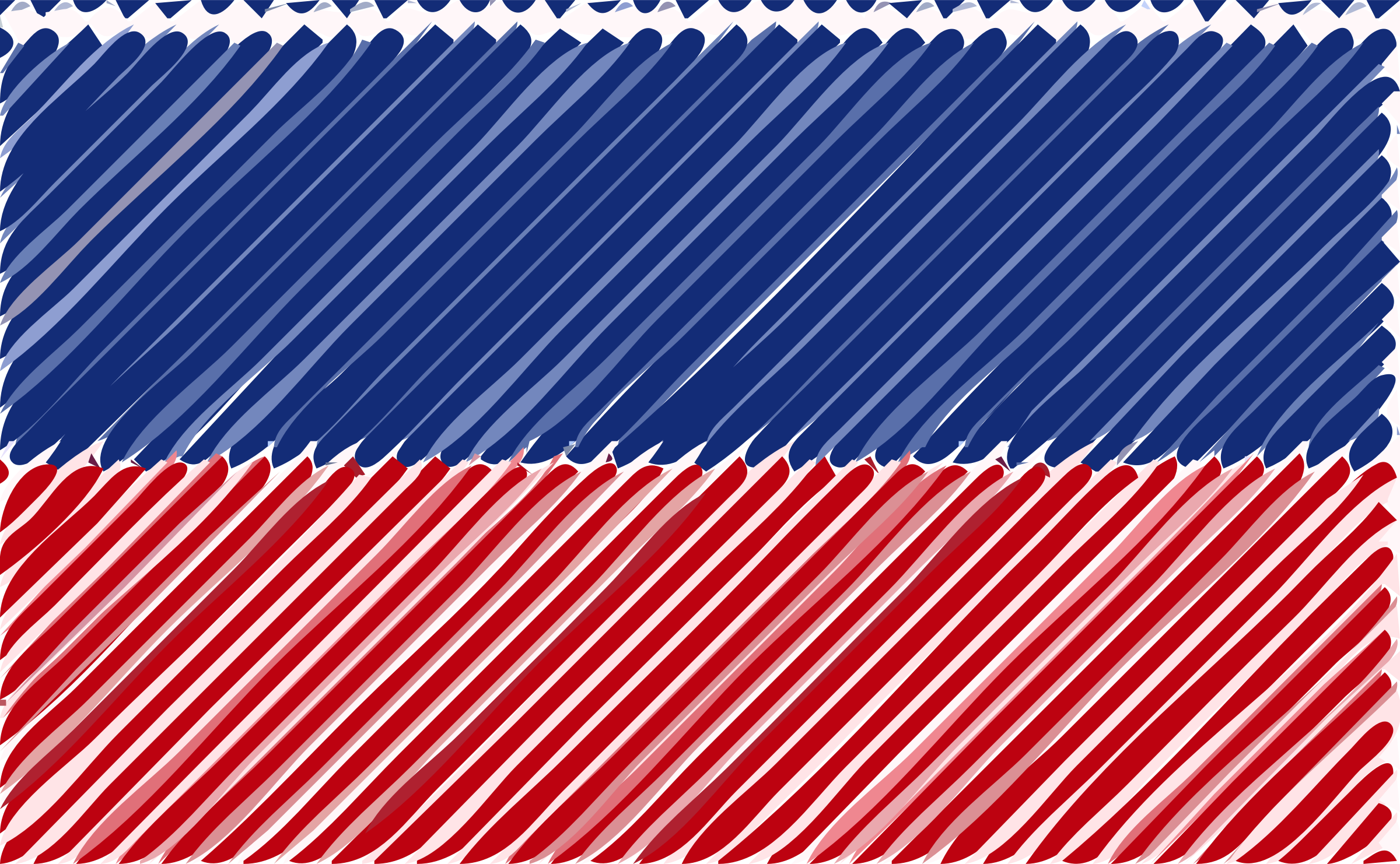 Haiti flag linear by Joesph