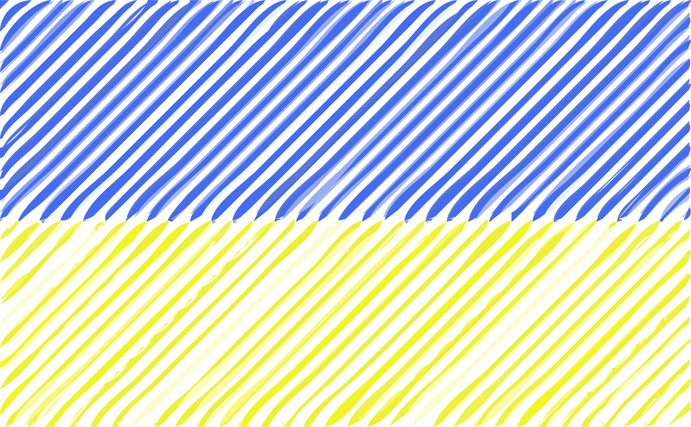 Ukraine flag linear by Joesph