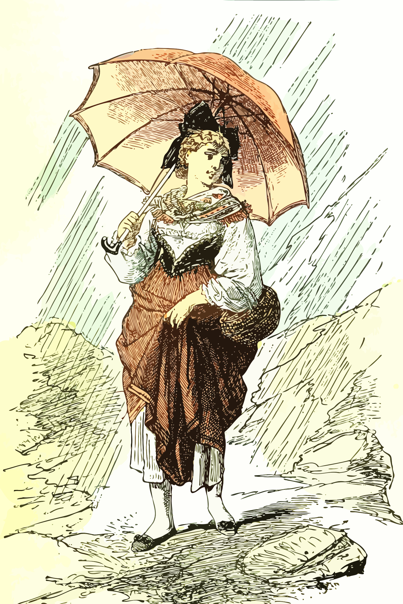 Lady in the rain by Firkin