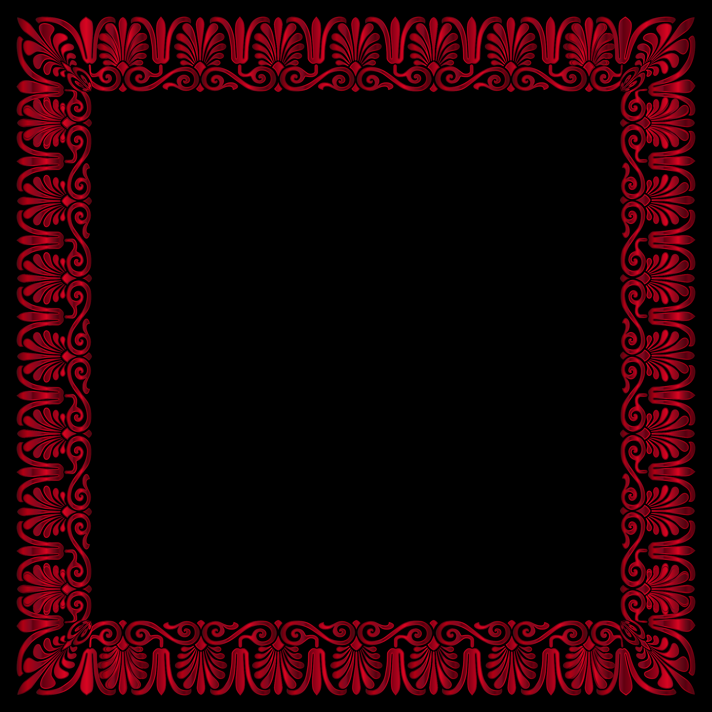 Crimson Victorian Ornament Expanded 2 by GDJ
