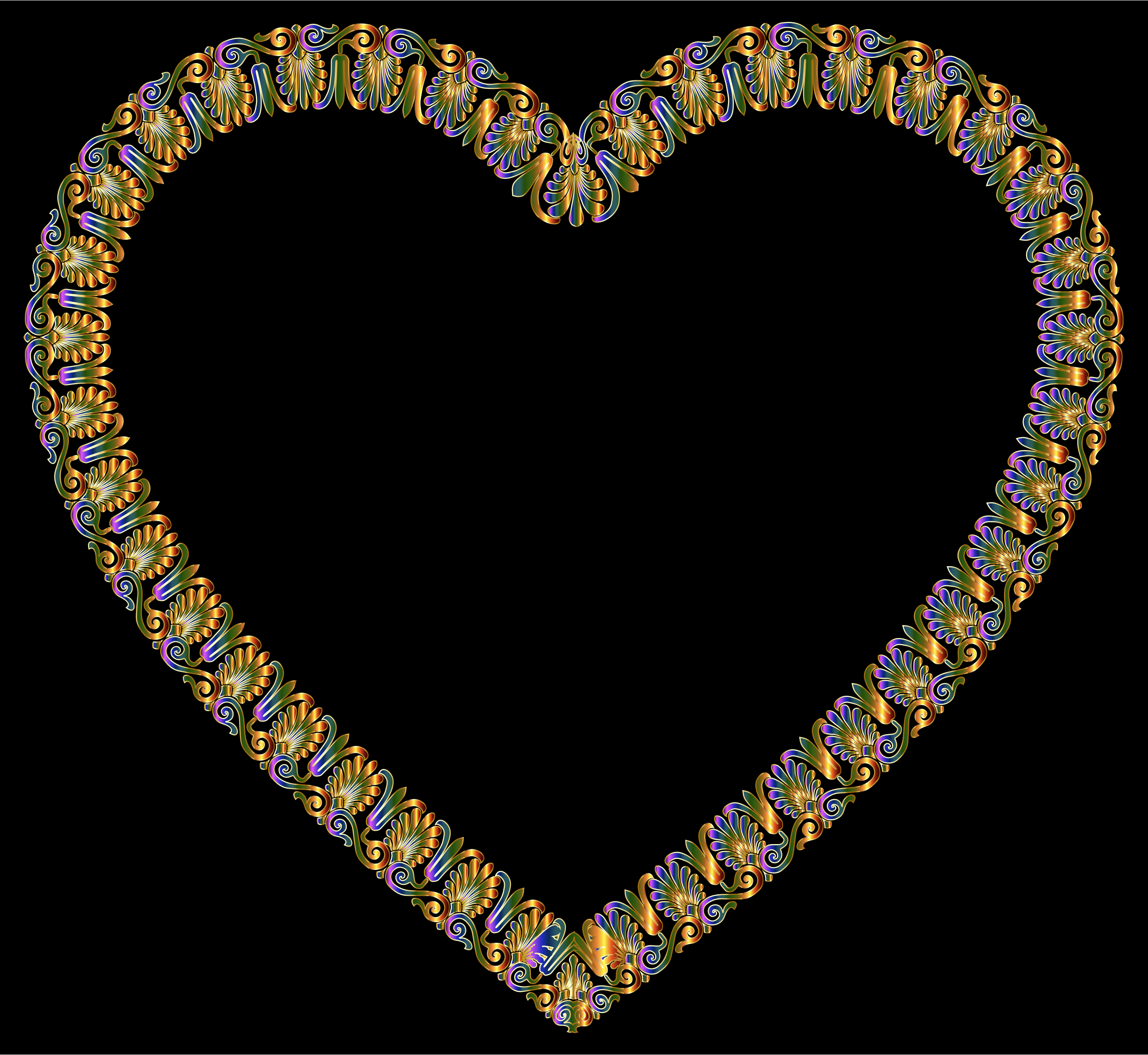 Chromatic Victorian Ornament Heart by GDJ
