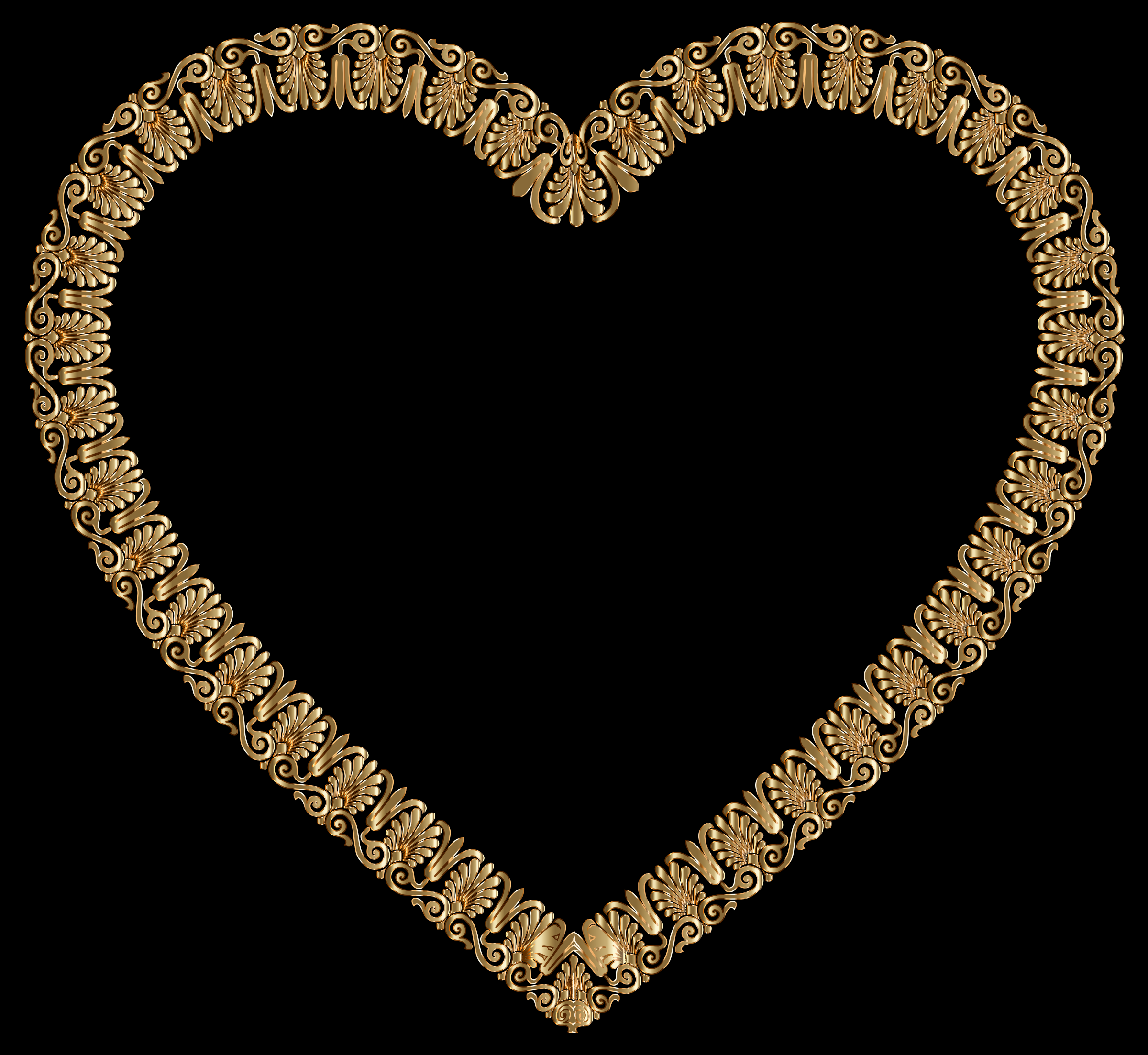 Gold Victorian Ornament Heart by GDJ