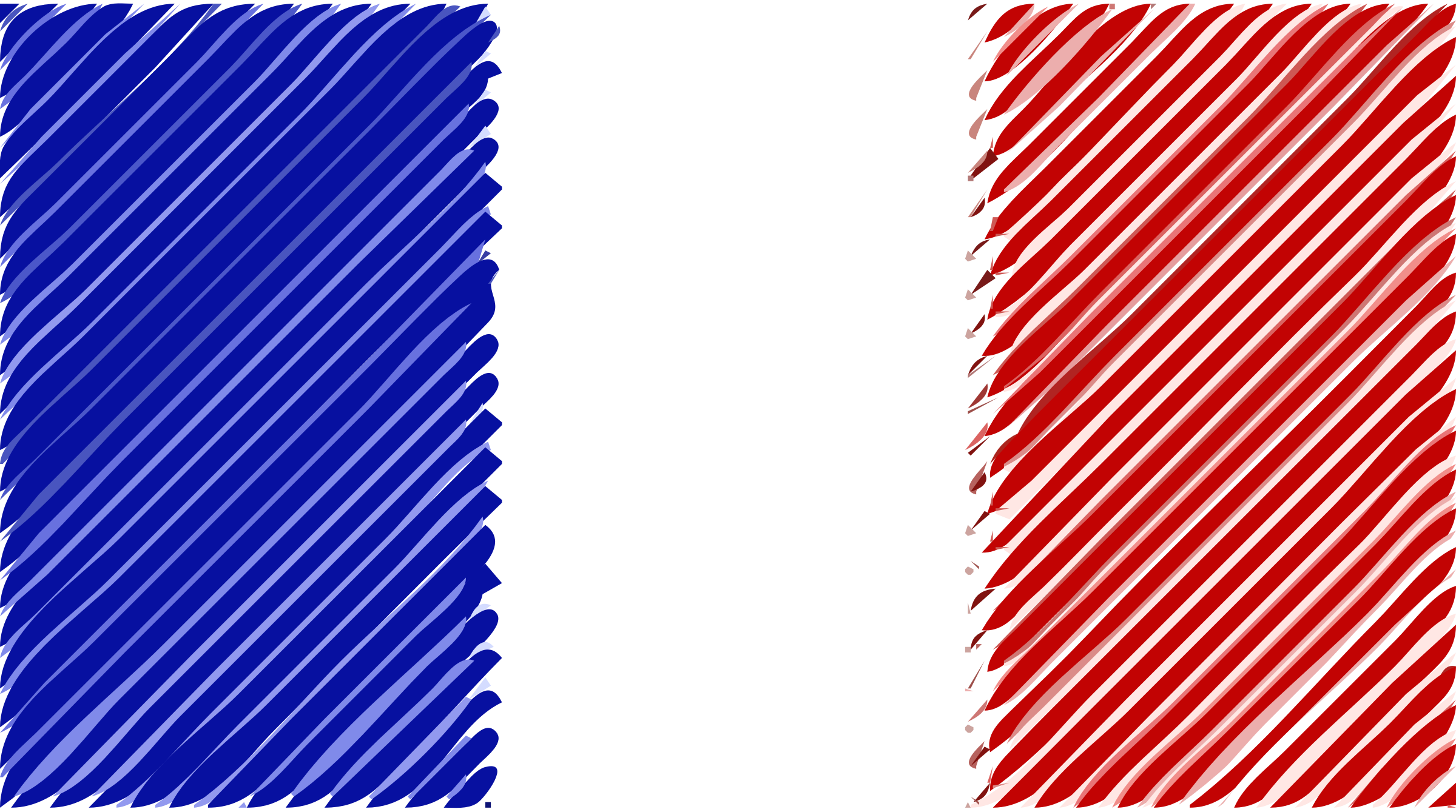 France flag linear by Joesph