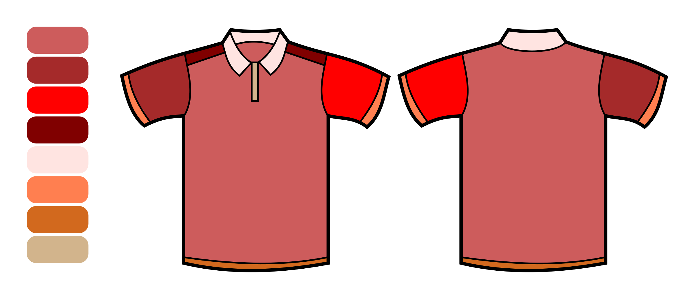 Polo Shirt Template - color remix by bardo