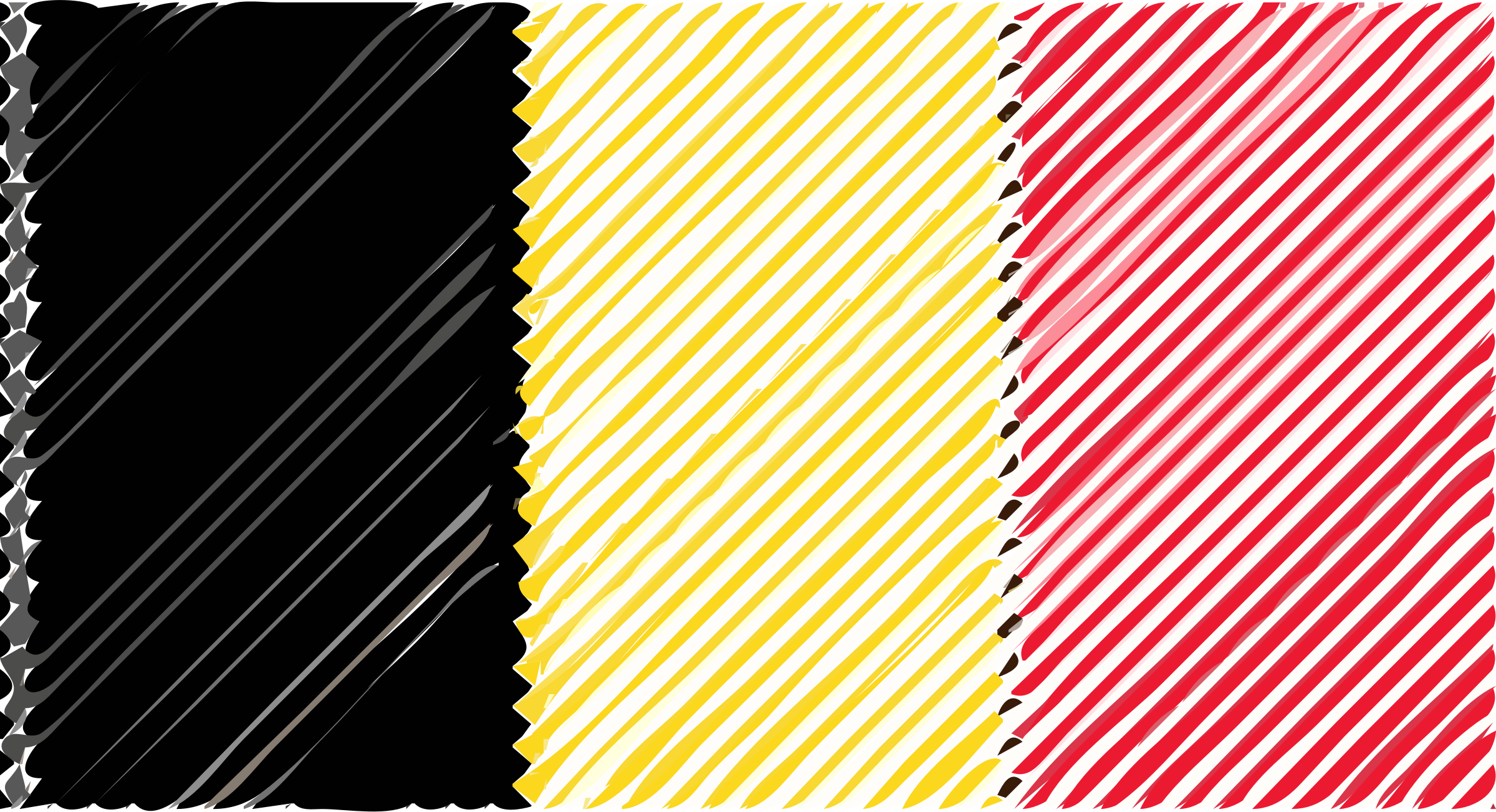 Belguim flag linear by Joesph