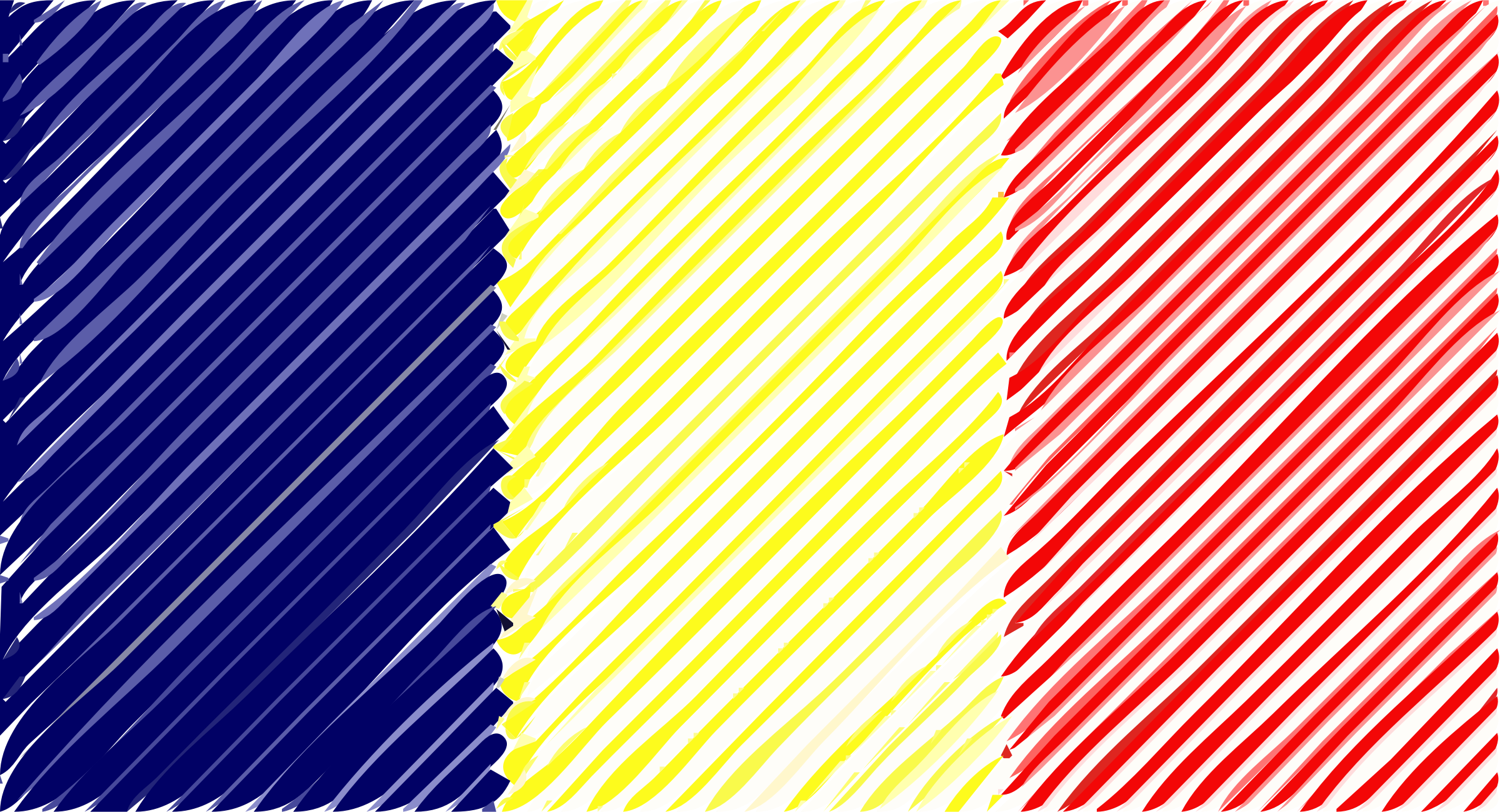 Chad flag linear by Joesph