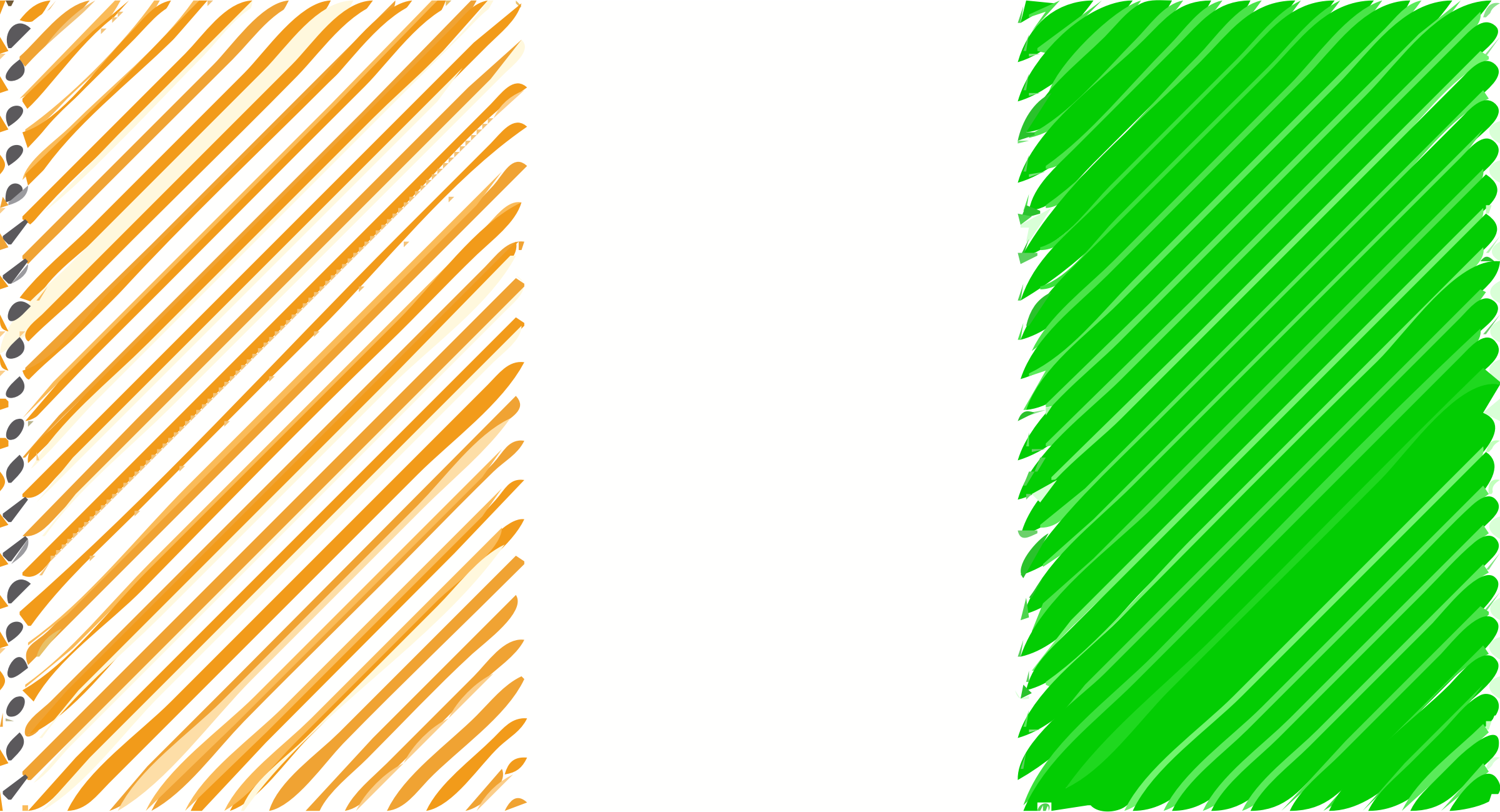 Cote DIvoire flag linear by Joesph