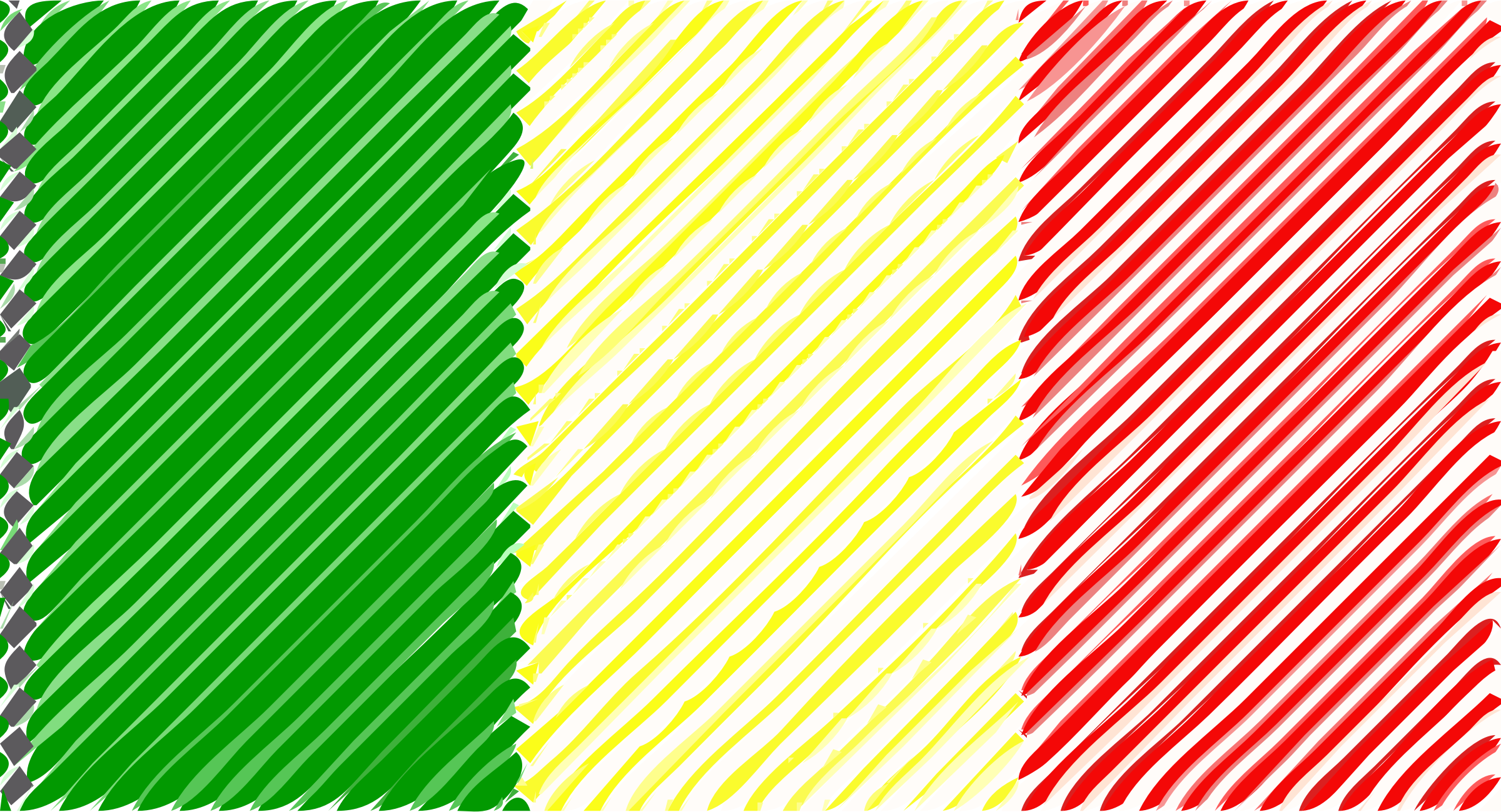 Mali flag linear by Joesph