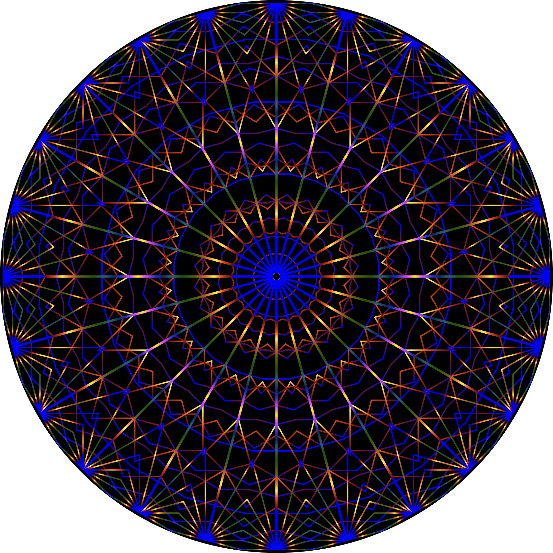 Prismatic Mandala Line Art by GDJ