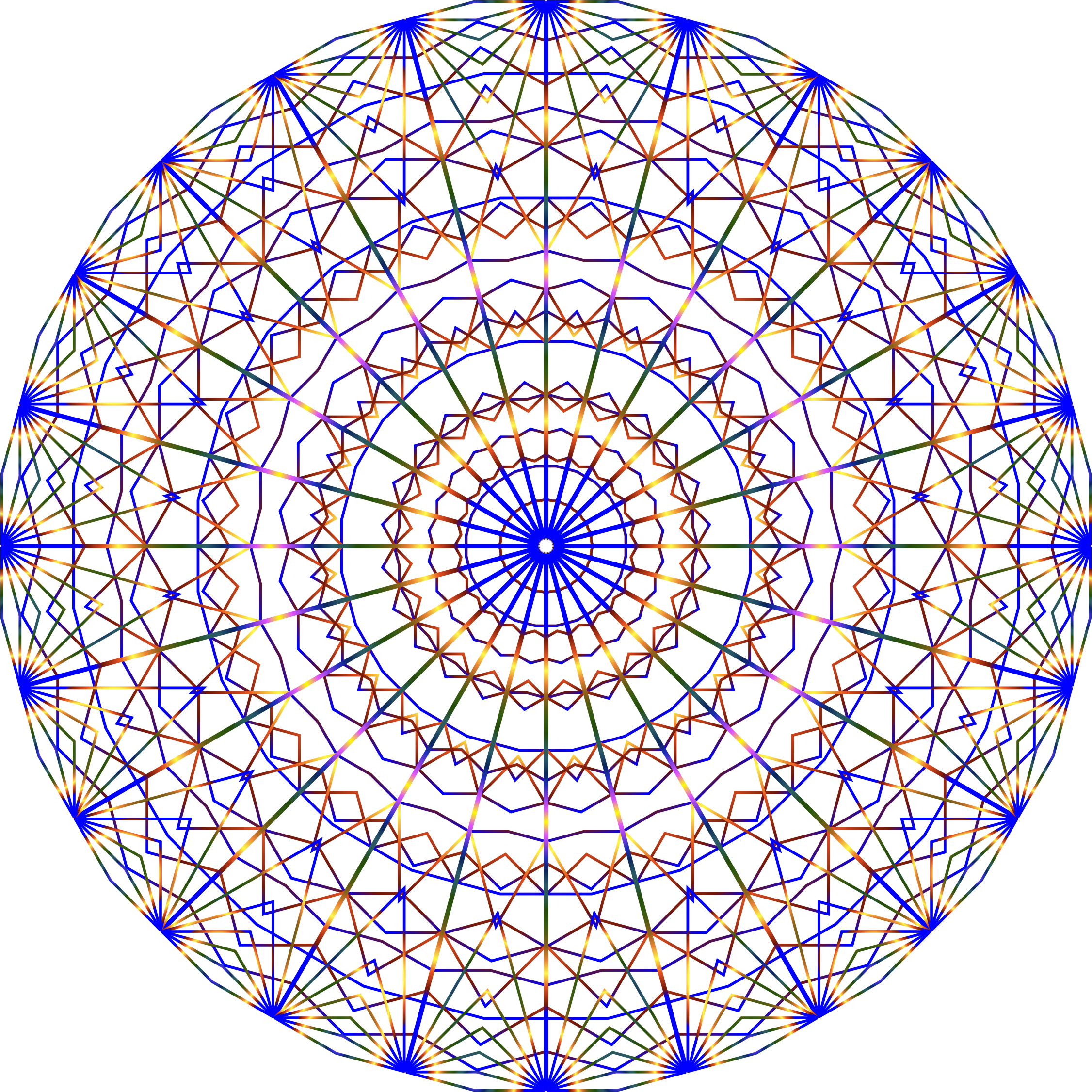 Prismatic Mandala Line Art No Background by GDJ