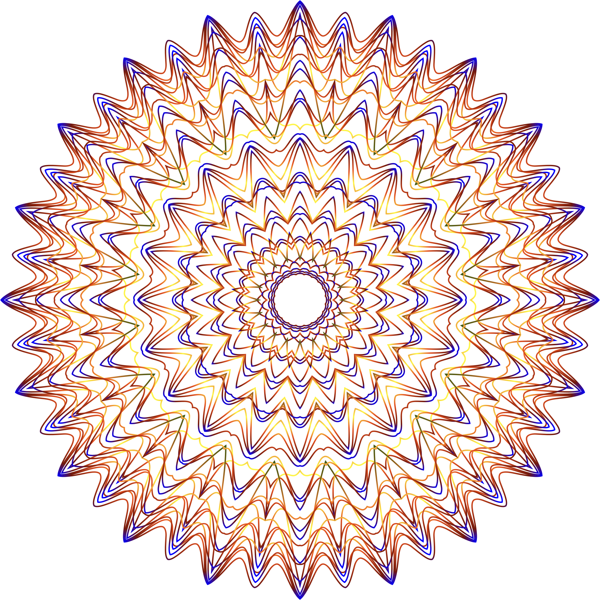 Prismatic Mandala Line Art 2 No Background by GDJ
