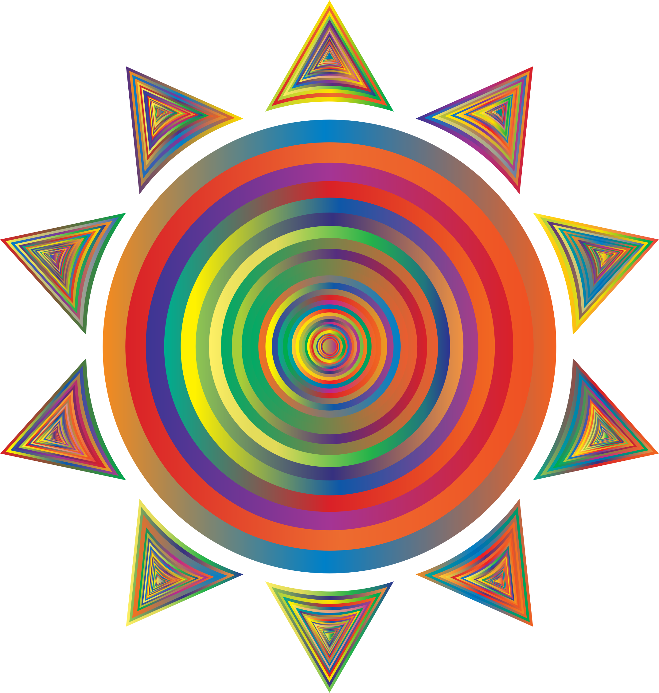 Prismatic Sun Icon Variation 2 by GDJ