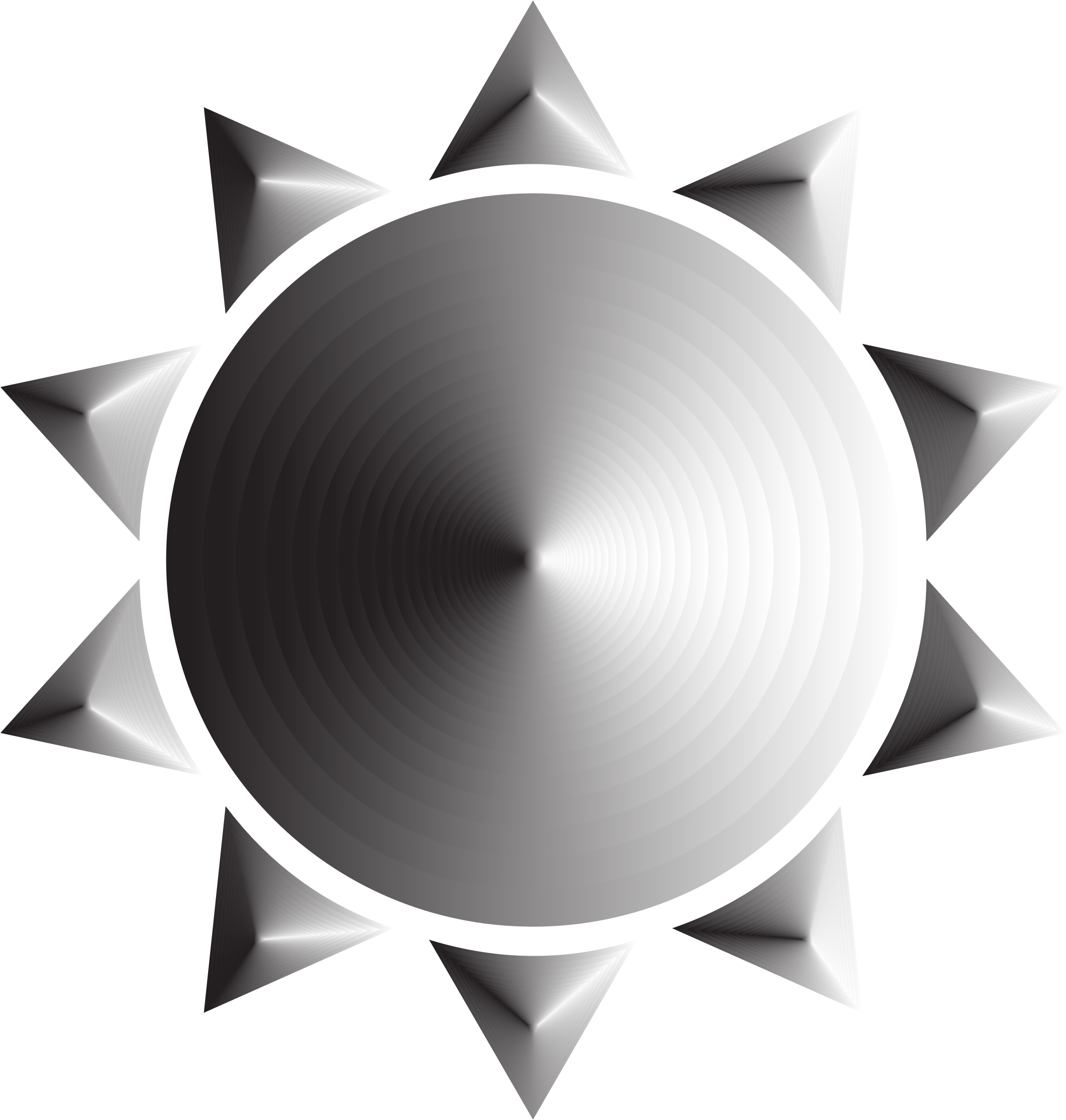 Prismatic Sun Icon Variation 4 by GDJ