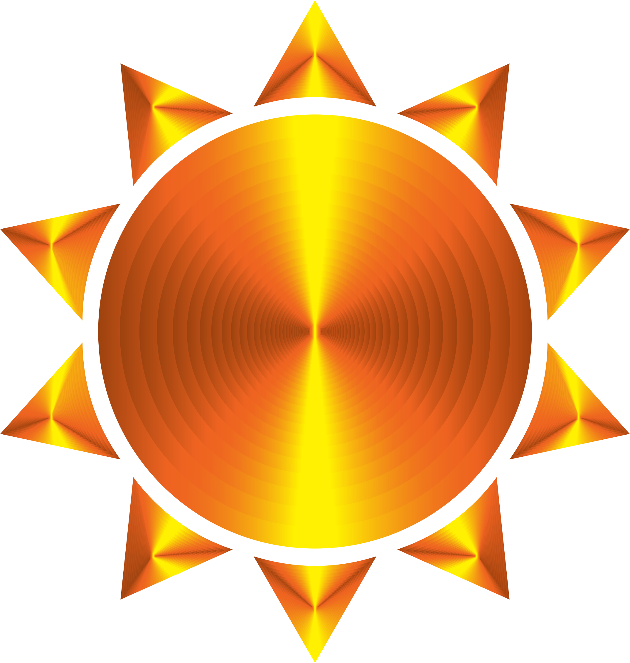 Prismatic Sun Icon Variation 5 by GDJ