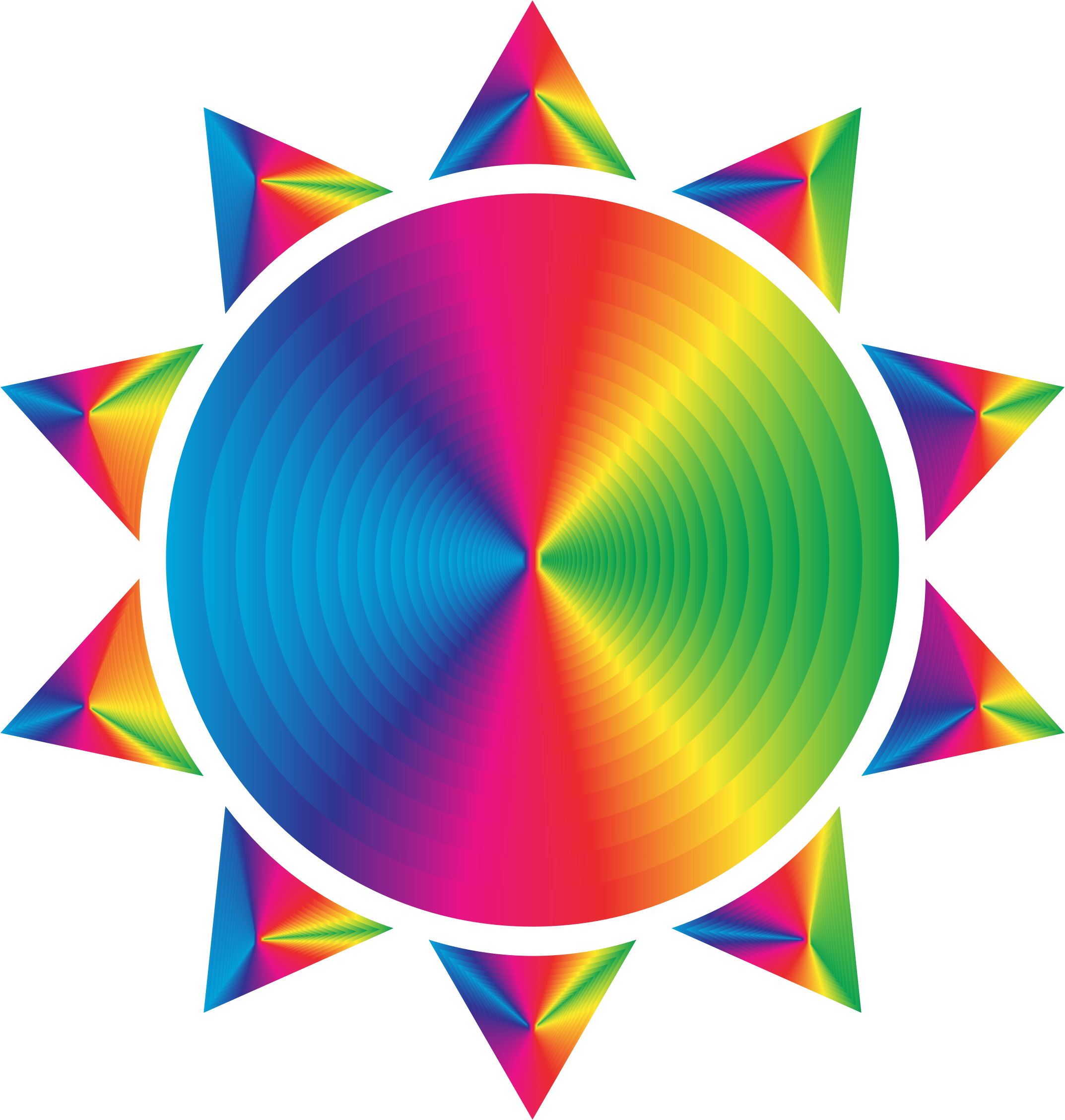 Prismatic Sun Icon Variation 7 by GDJ
