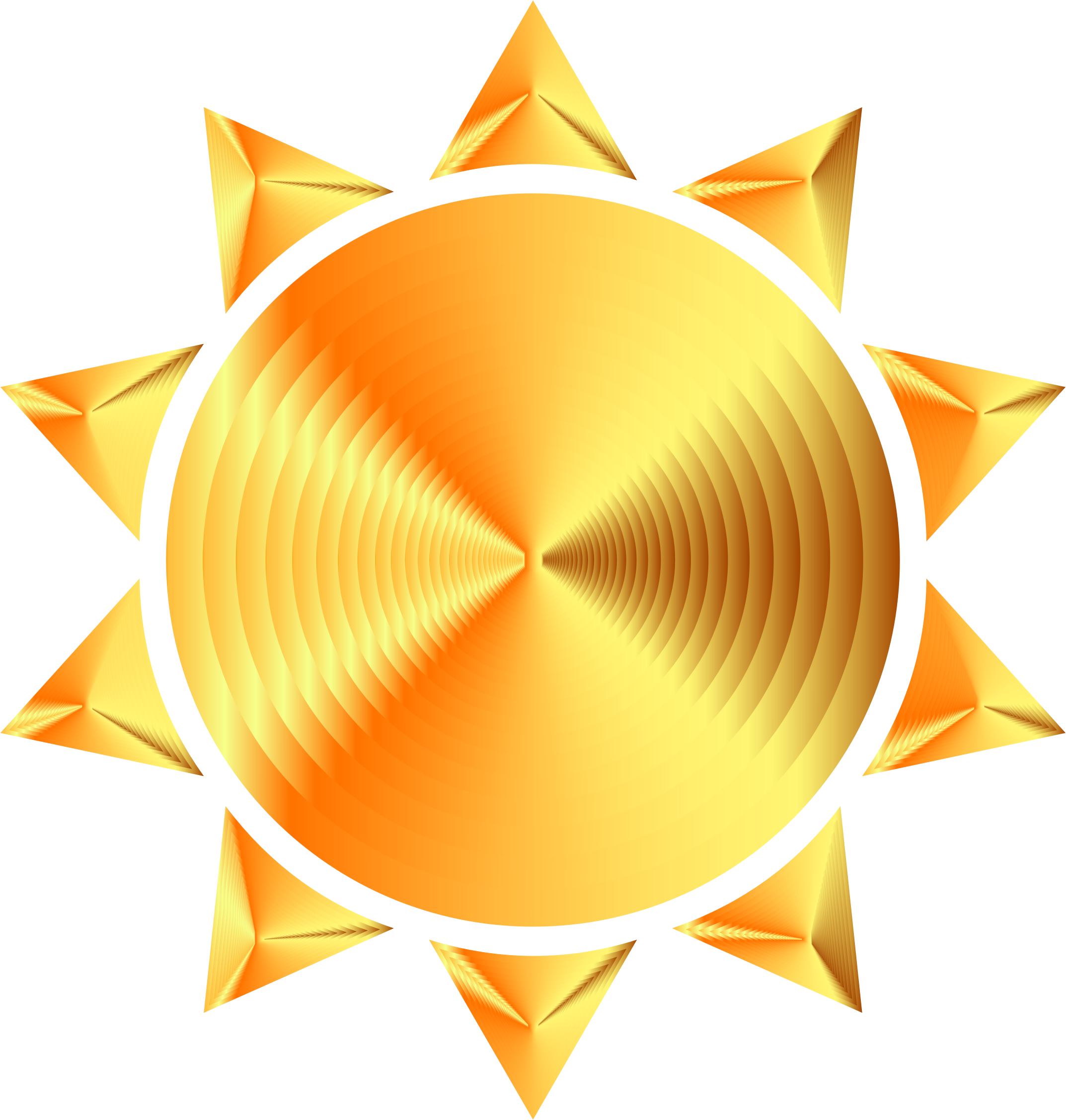 Prismatic Sun Icon Variation 8 by GDJ