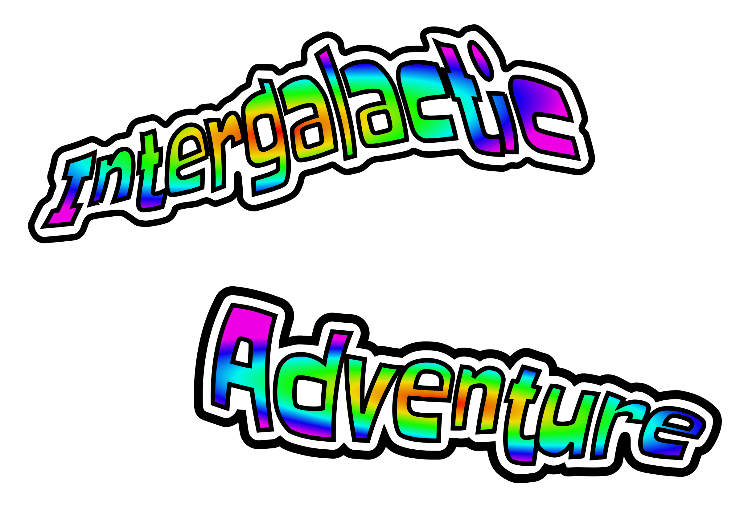 Intergalactic Adventure Logo Text by rygle