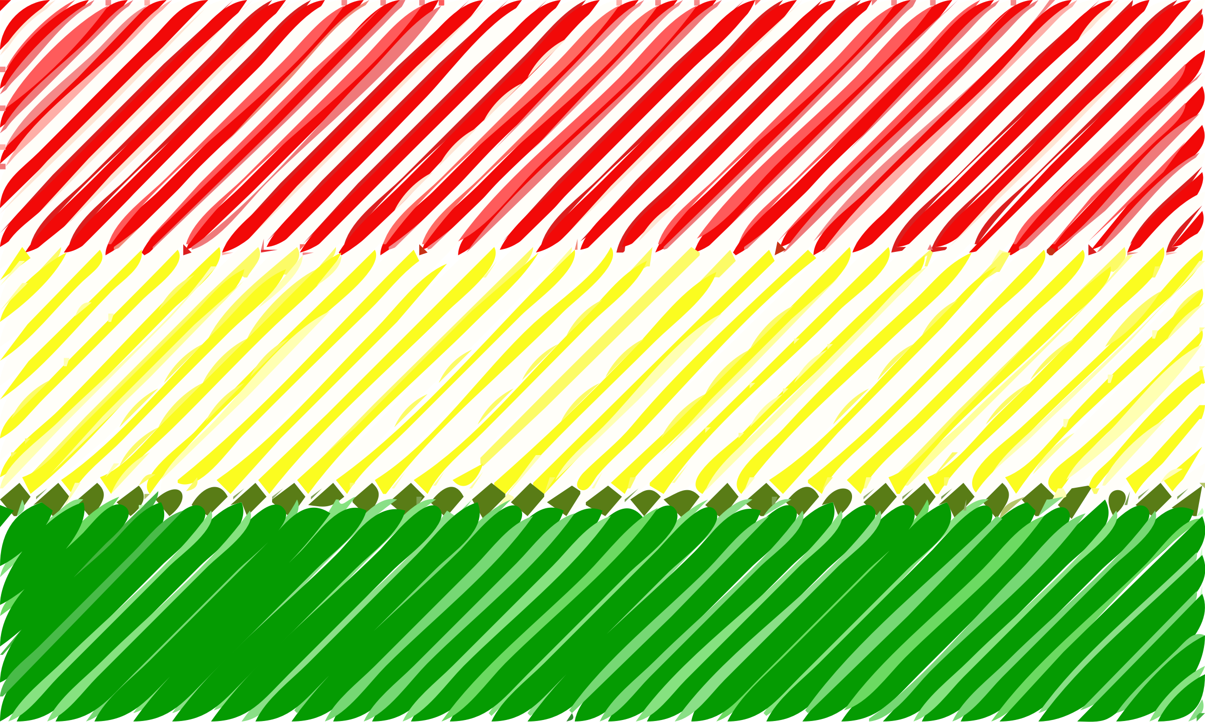 Bolivia flag linear by Joesph