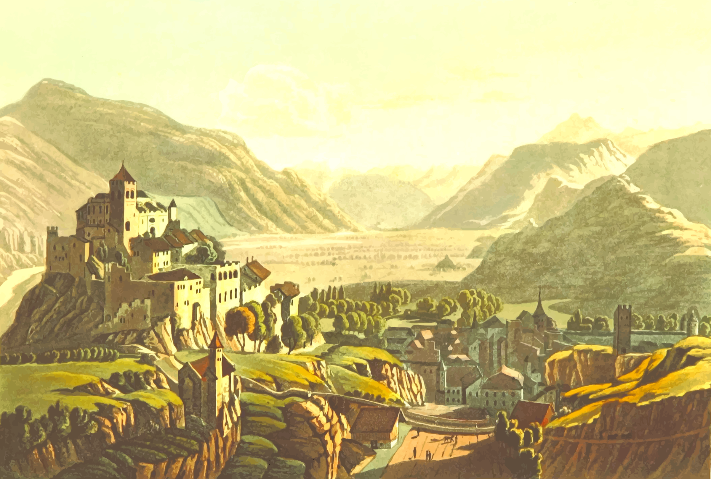 East view of Sion by Firkin