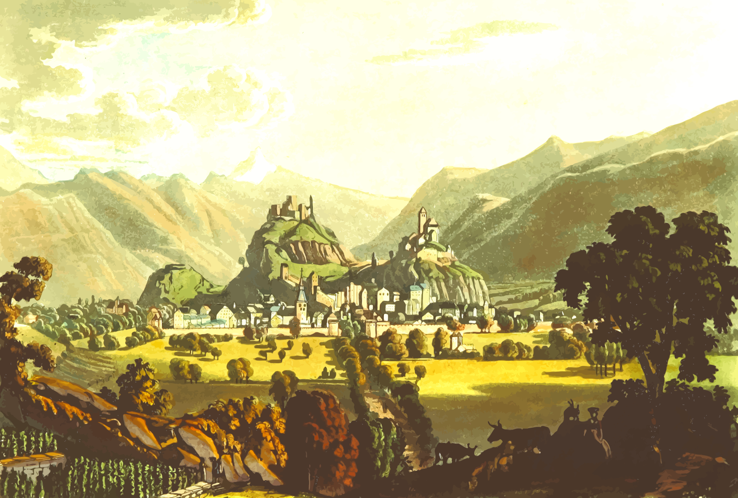 West view of Sion by Firkin