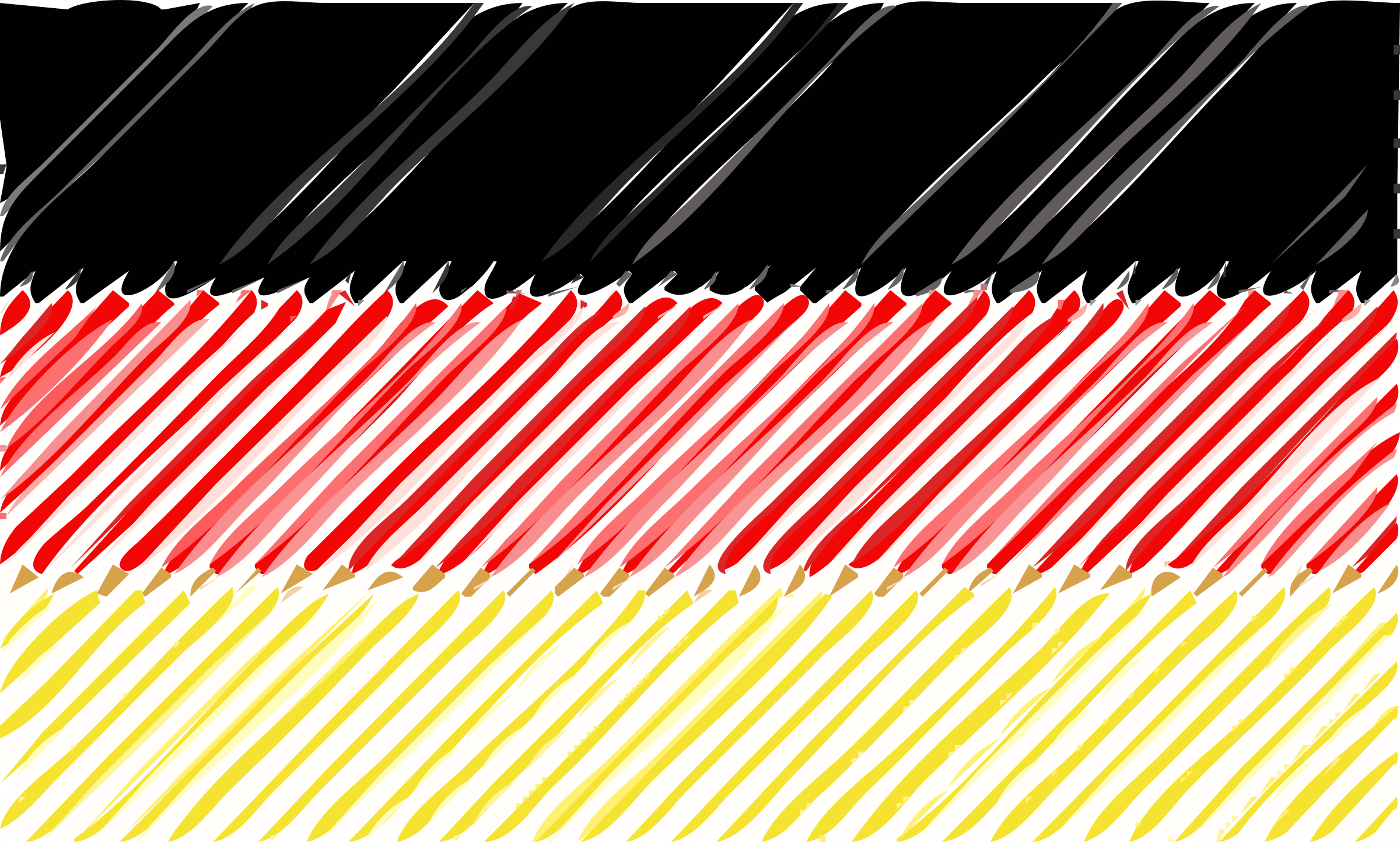 German flag linear by Joesph