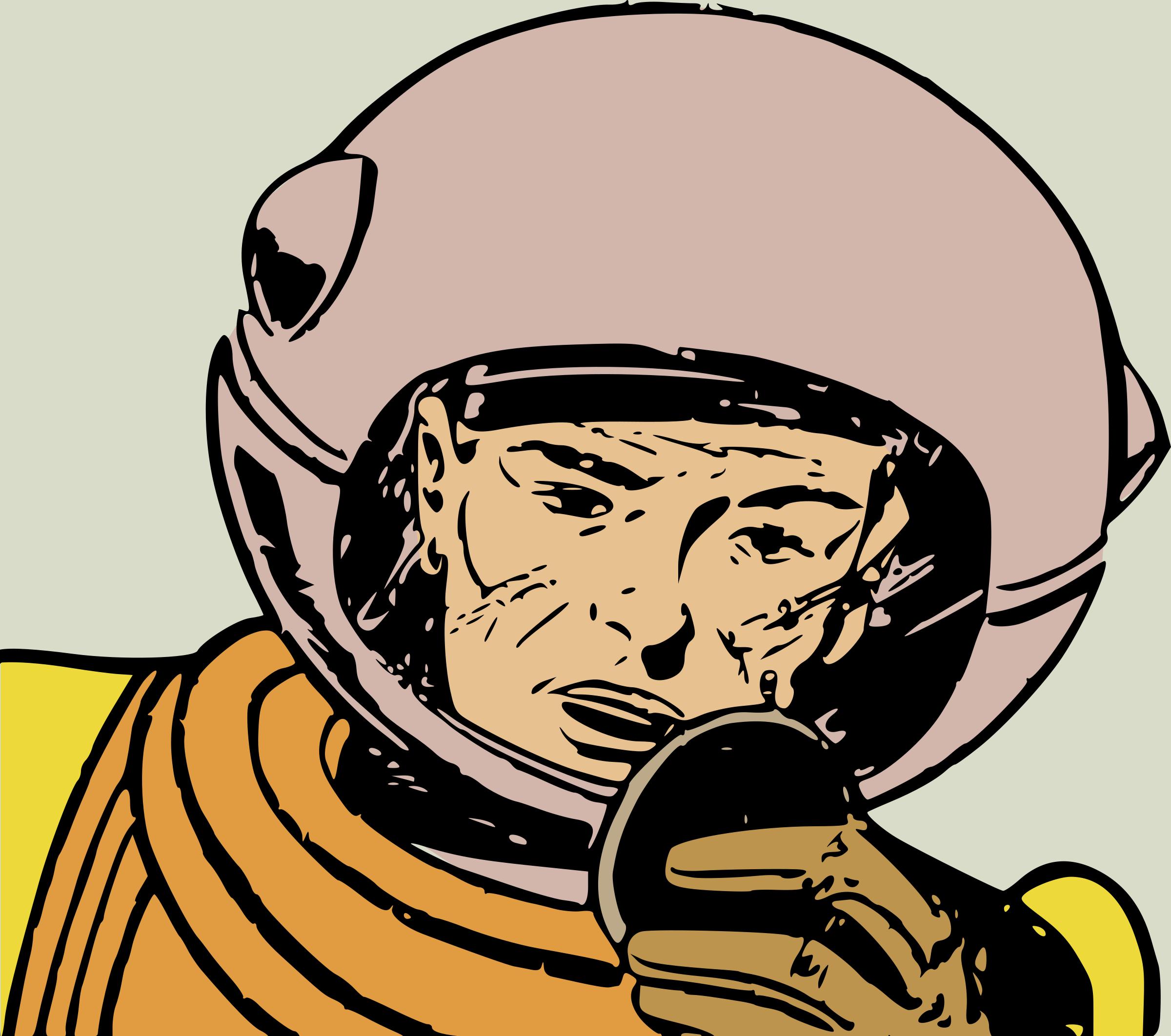 retro astronaut clip art - HD2400×2124