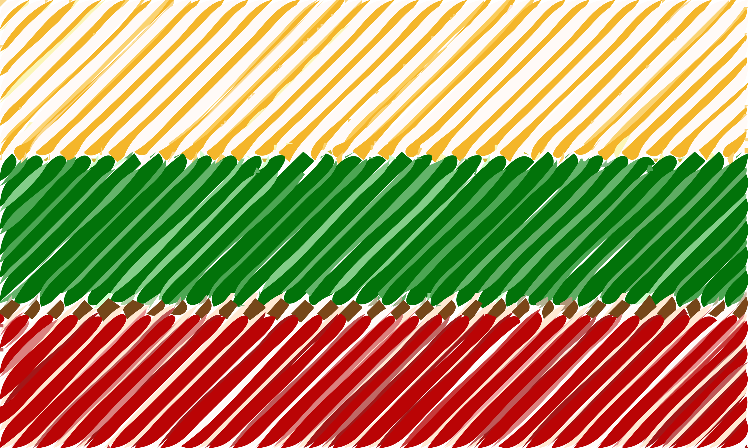 Lithuania flag linear by Joesph