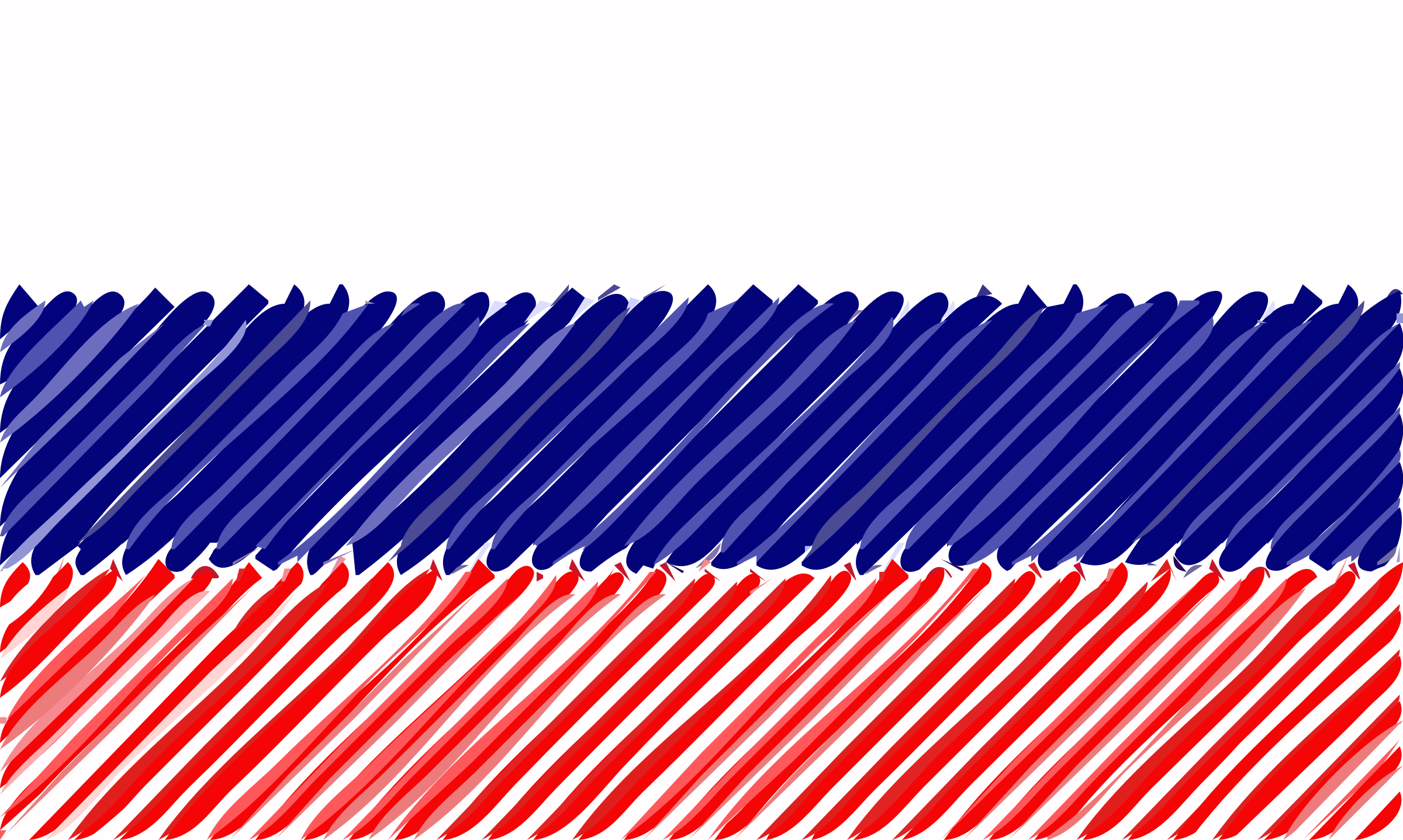 Russia flag linear by Joesph