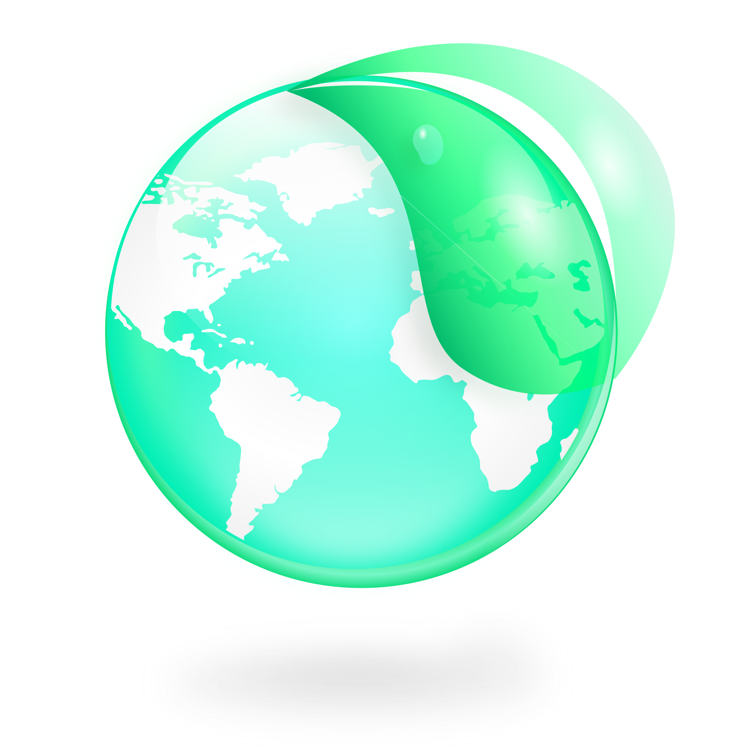 Environmental / Eco Globe & Leaf Icon by kendraschaefer