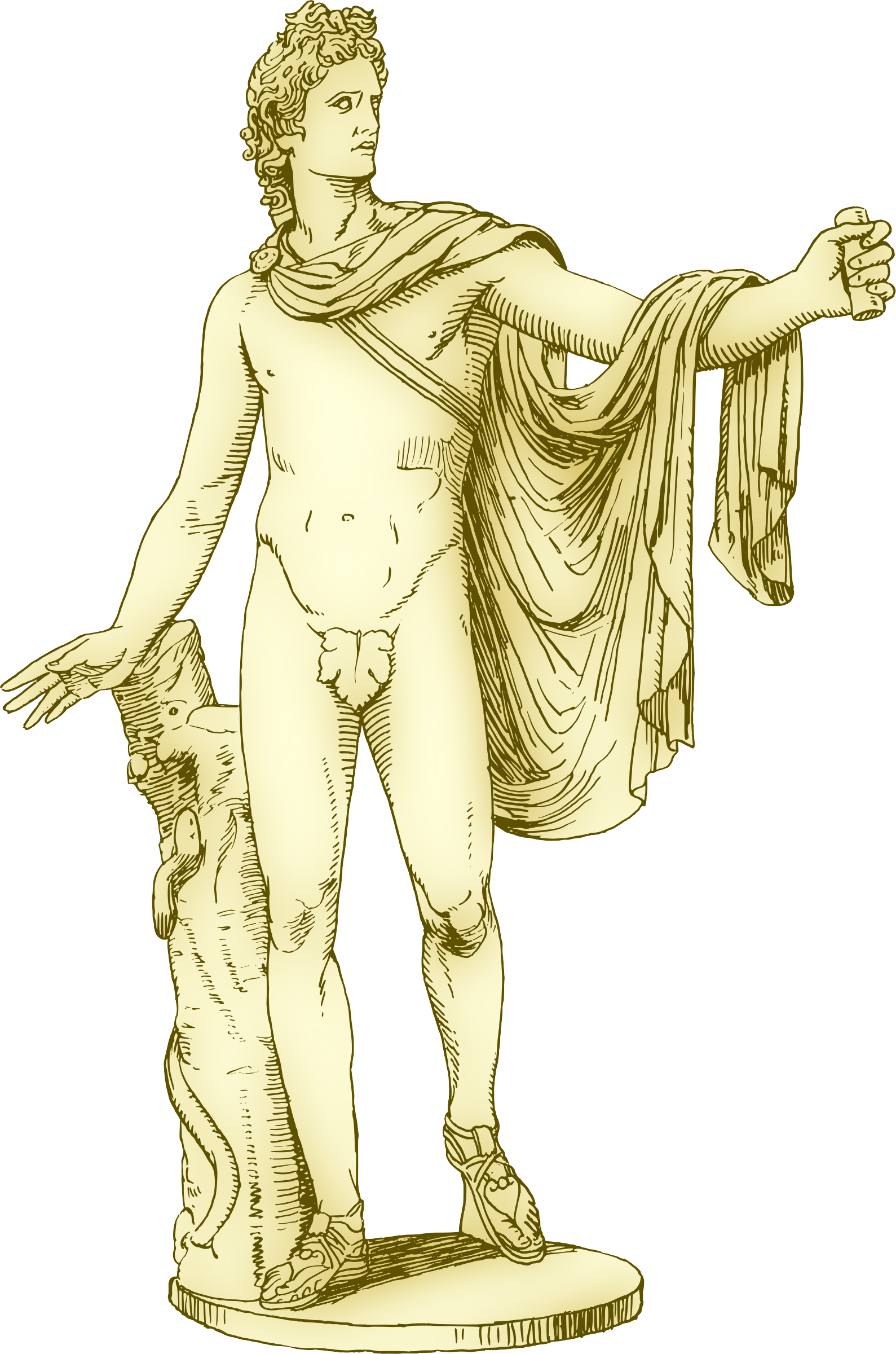 Apollo (marble statue) by Firkin